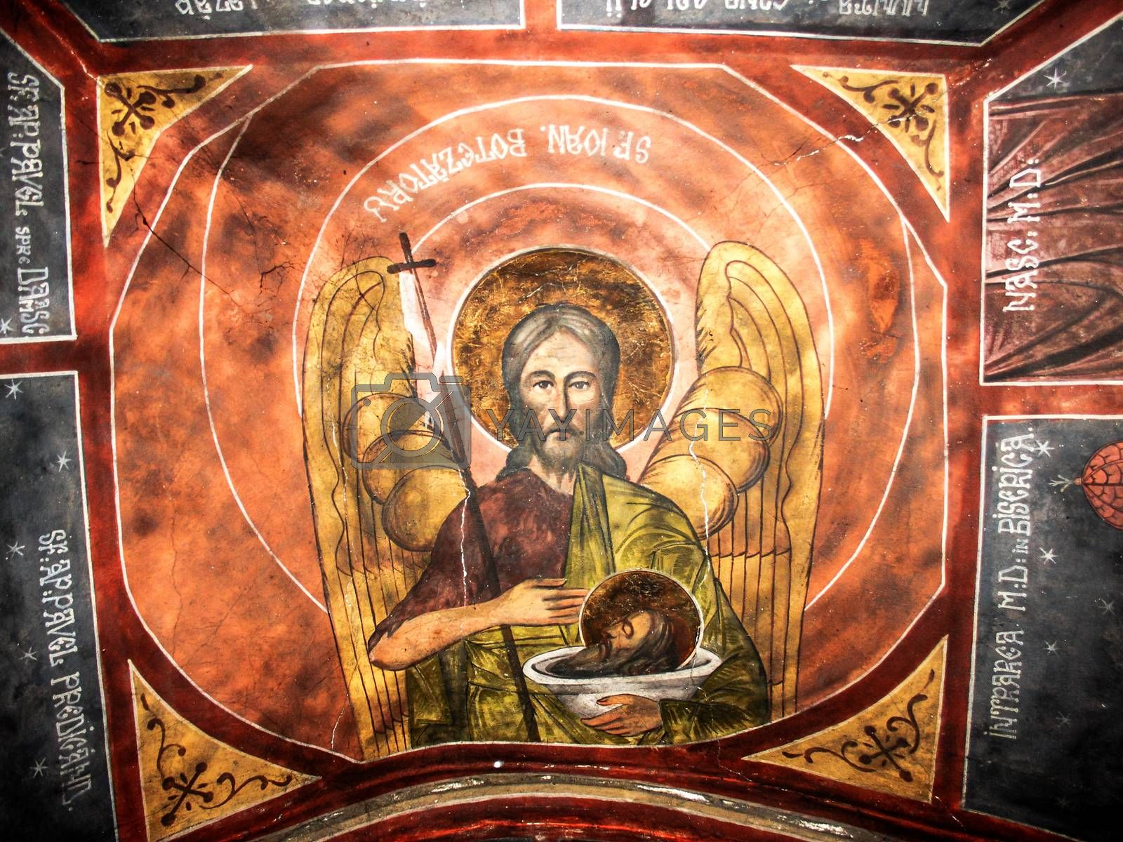 Saint John the Baptist old fresco   by shoricelu