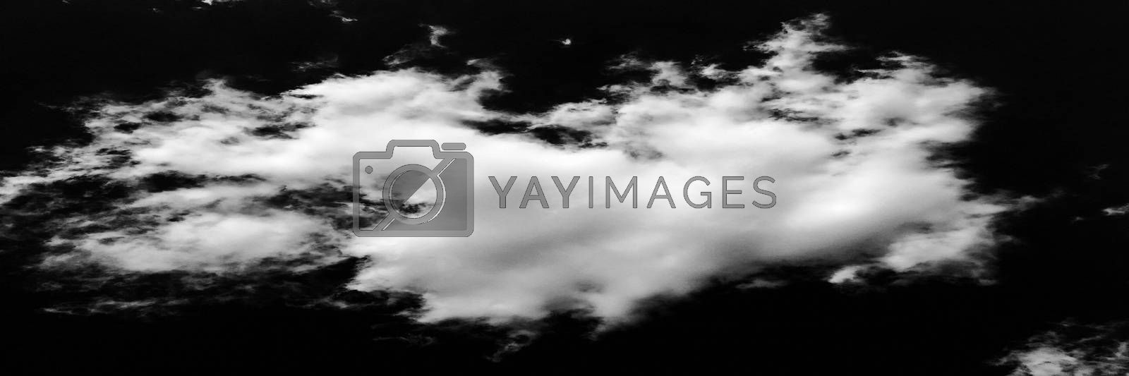 Isolated white clouds on black sky background. Cloud. Black Sky. by titco