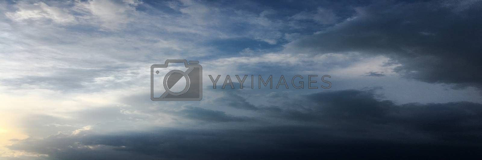 beautiful blue sky with clouds background.Sky with clouds weather nature cloud blue.Blue sky with clouds and sun. by titco