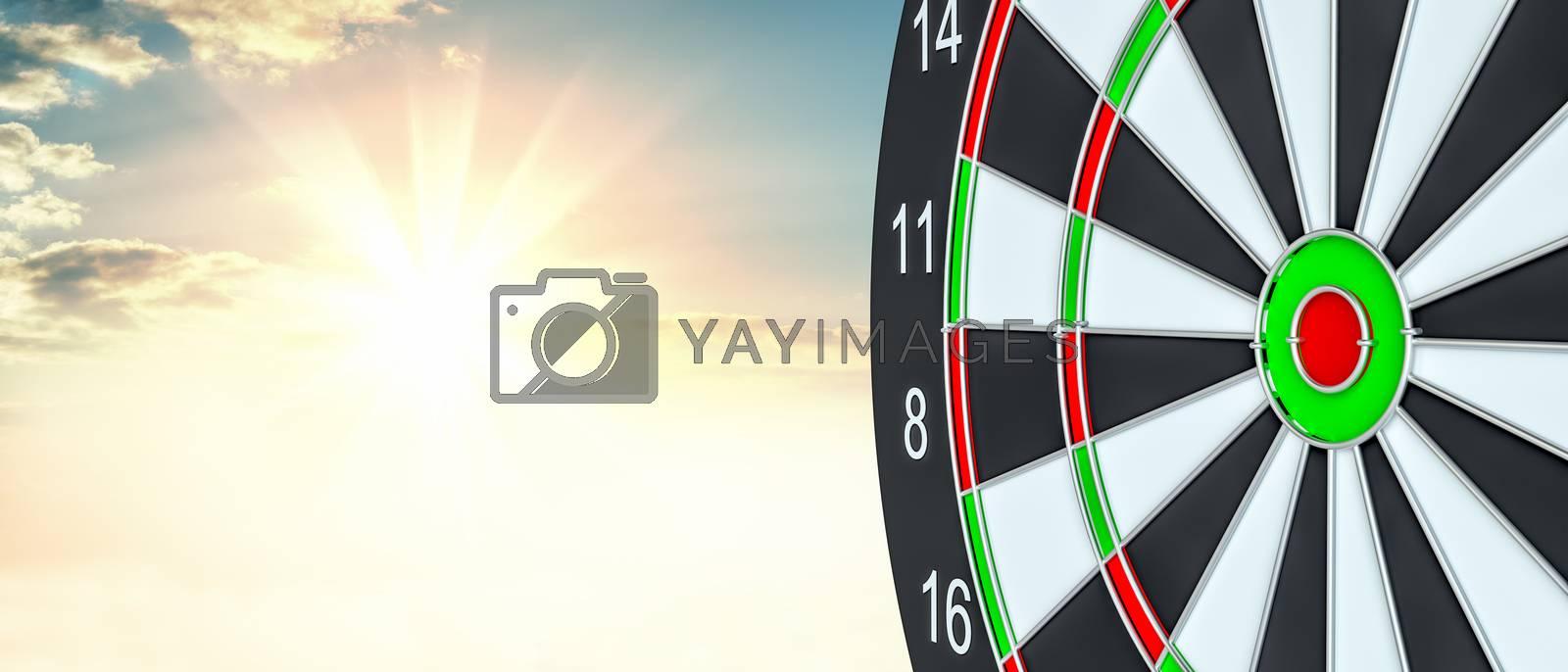 Target dart. 3d illustration by cherezoff