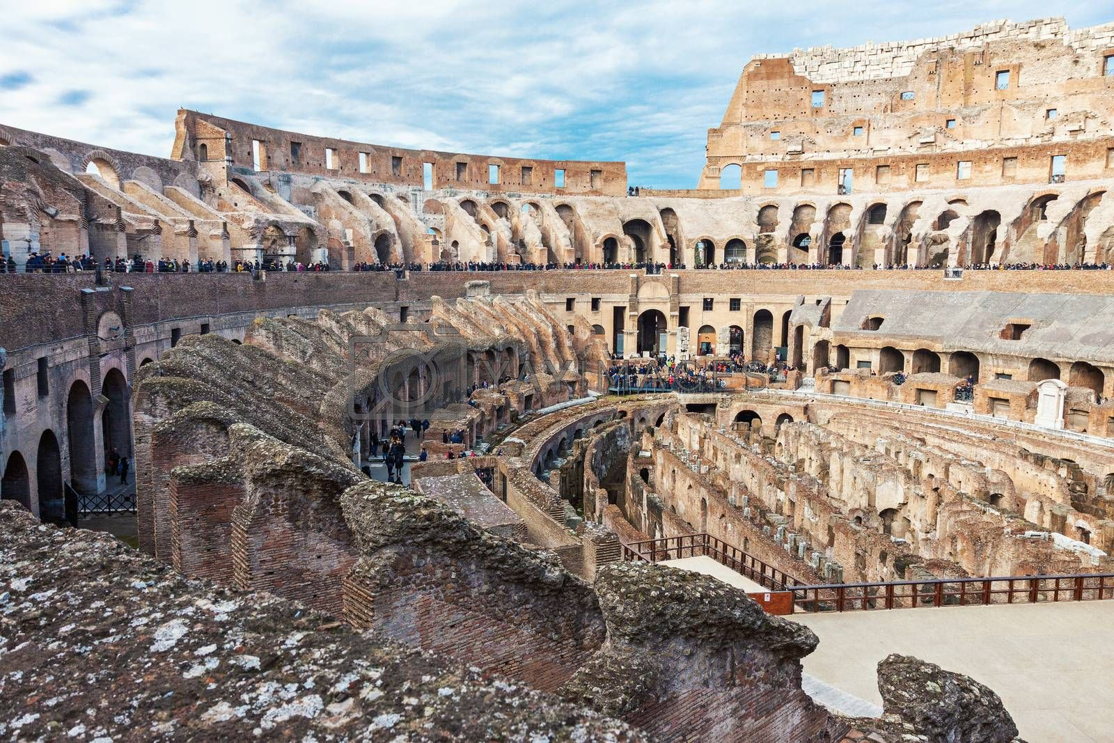 Royalty free image of Interior of Colosseum in Rome by Cebas