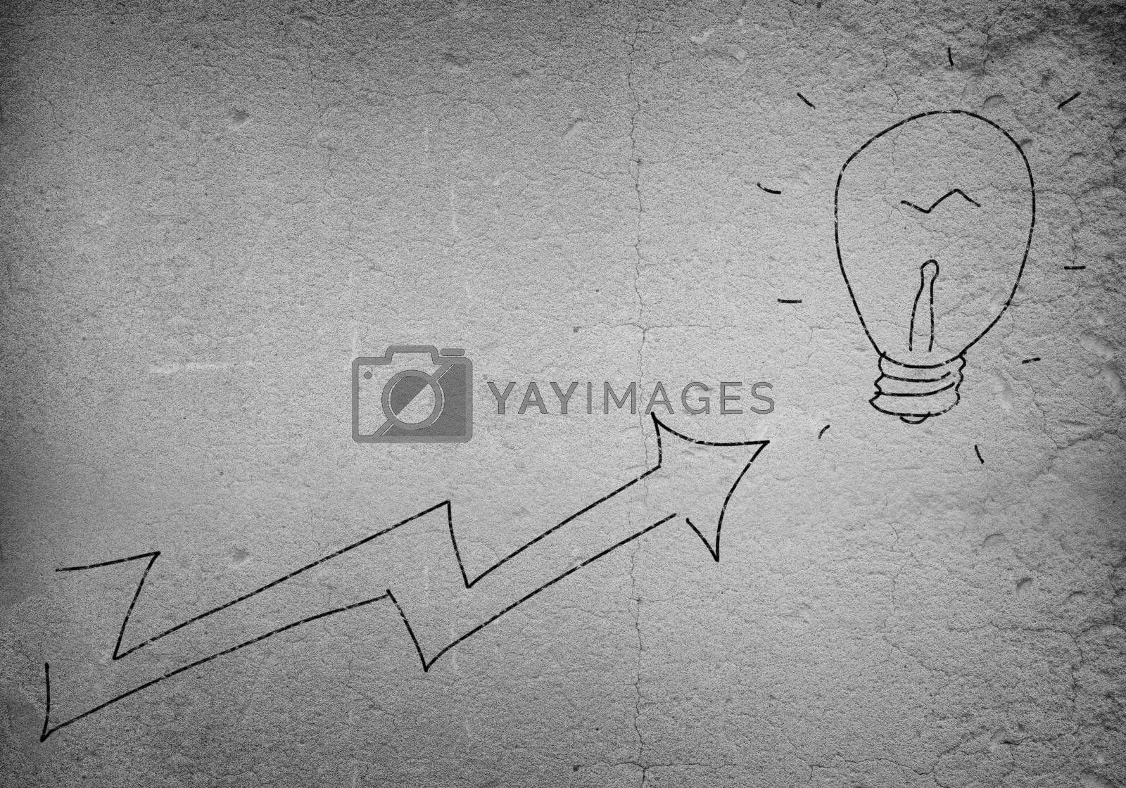 Background image with drawn arrow on cement wall