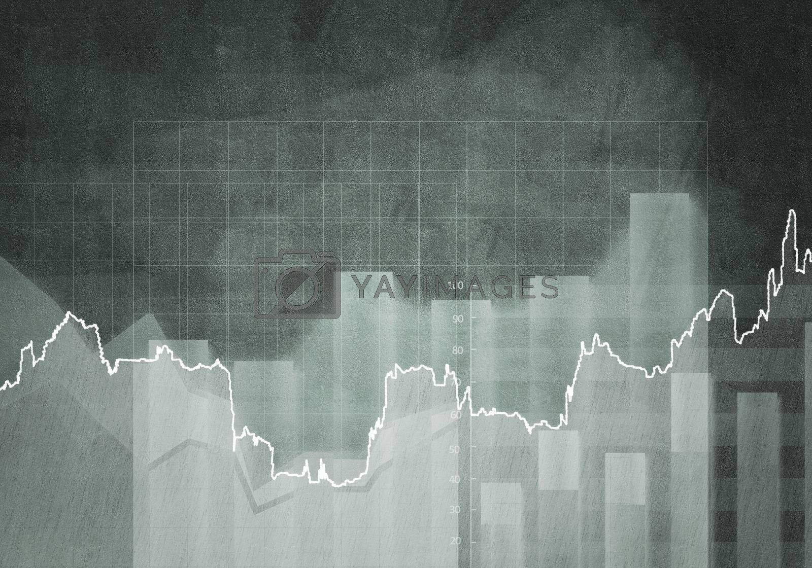 Background conceptual image with market graphs and diagrams