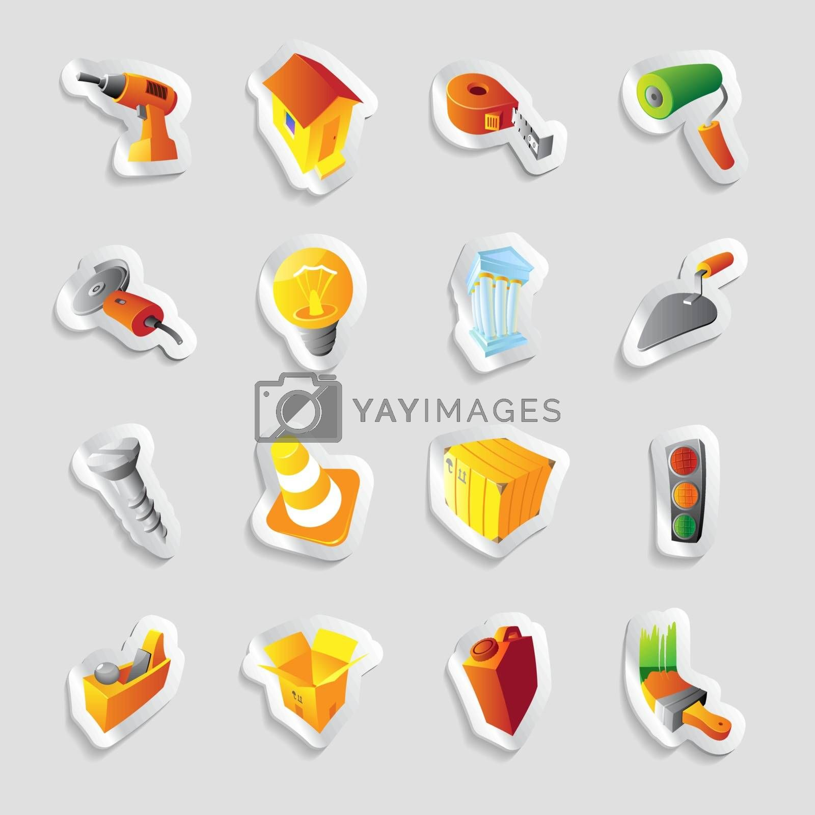Icons for industry and technology by ildogesto