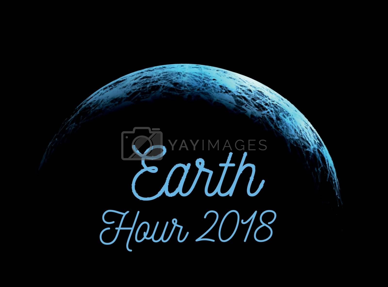 Royalty free image of The Earth Hour is an international action calling for the switching off of light for one hour for environmental assistance to planet Earth. Vector illustration by sermax55