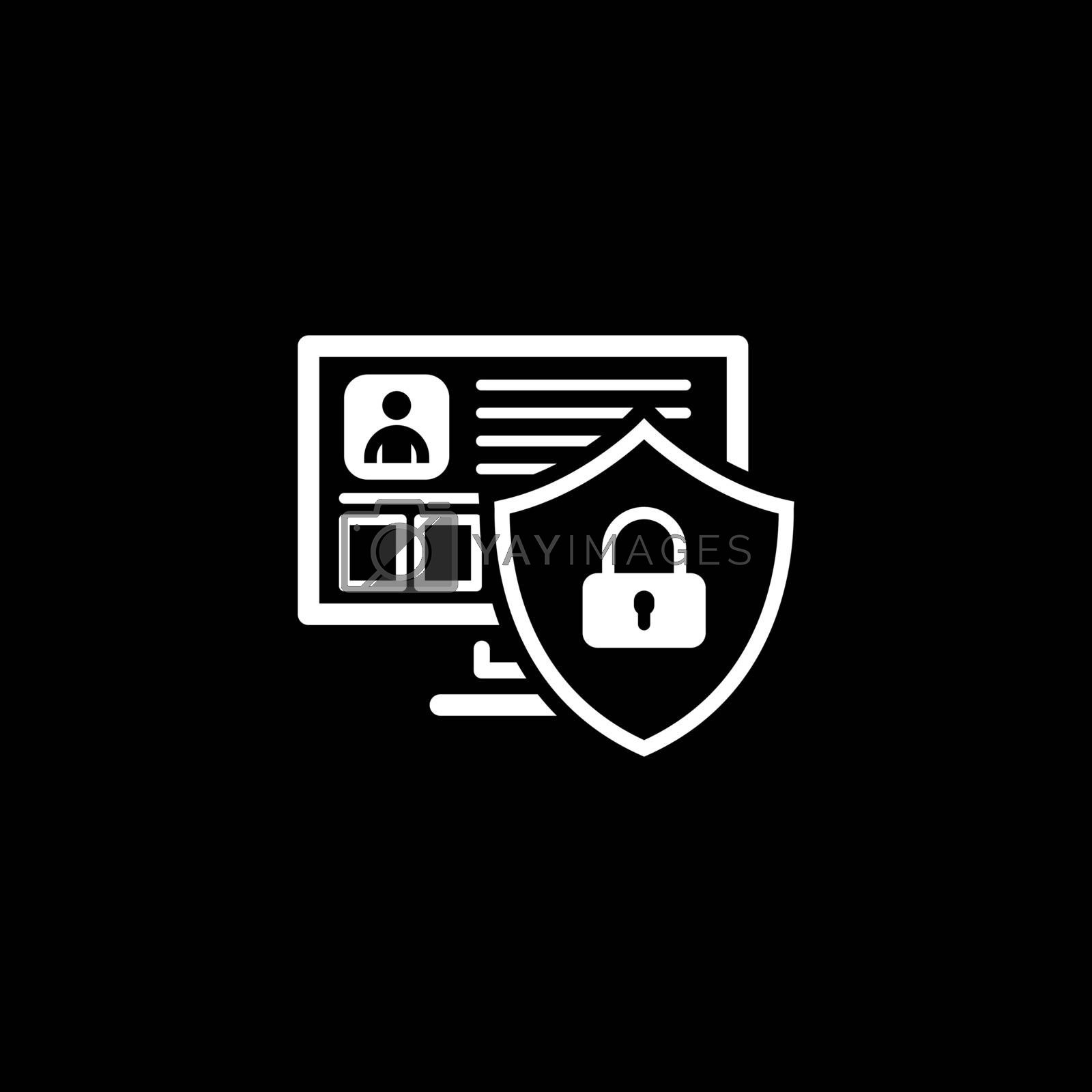 Private Security Protection Icon. Flat Design. Business Concept Isolated Illustration.