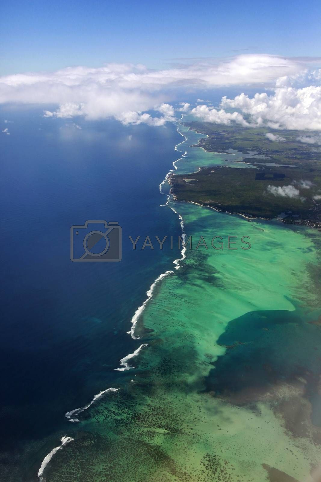 Mauritius sky view showing  by friday