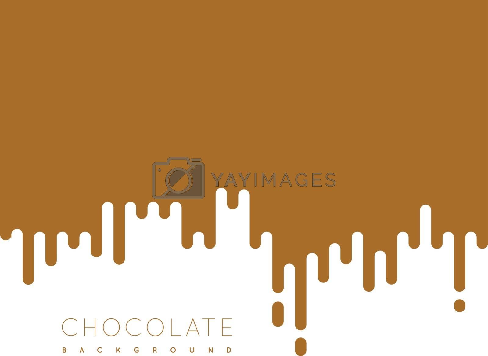 Chocolate irregular rounded lines background. Vector illustraion