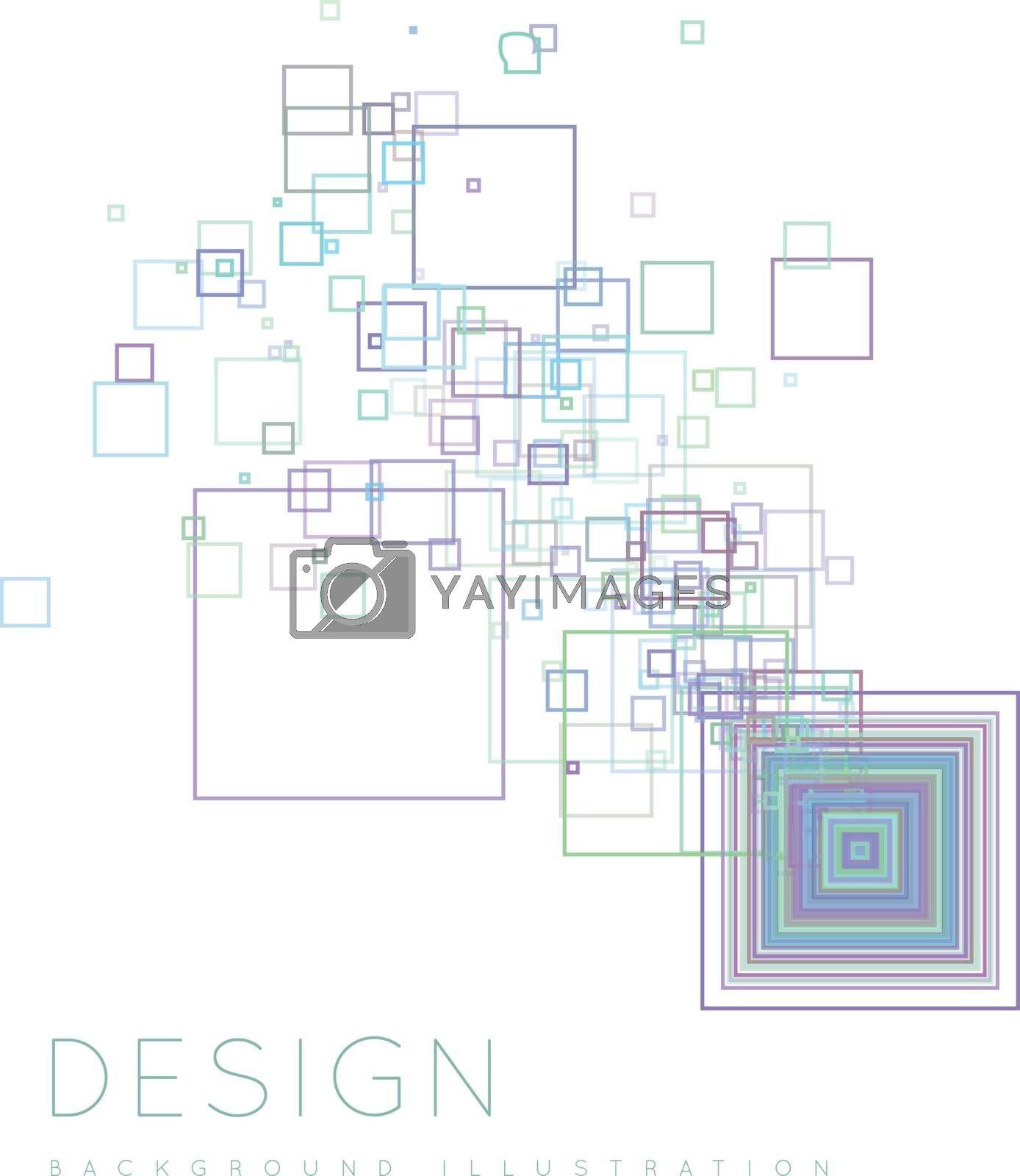 Background of the squares in a modern style. Vector illustration