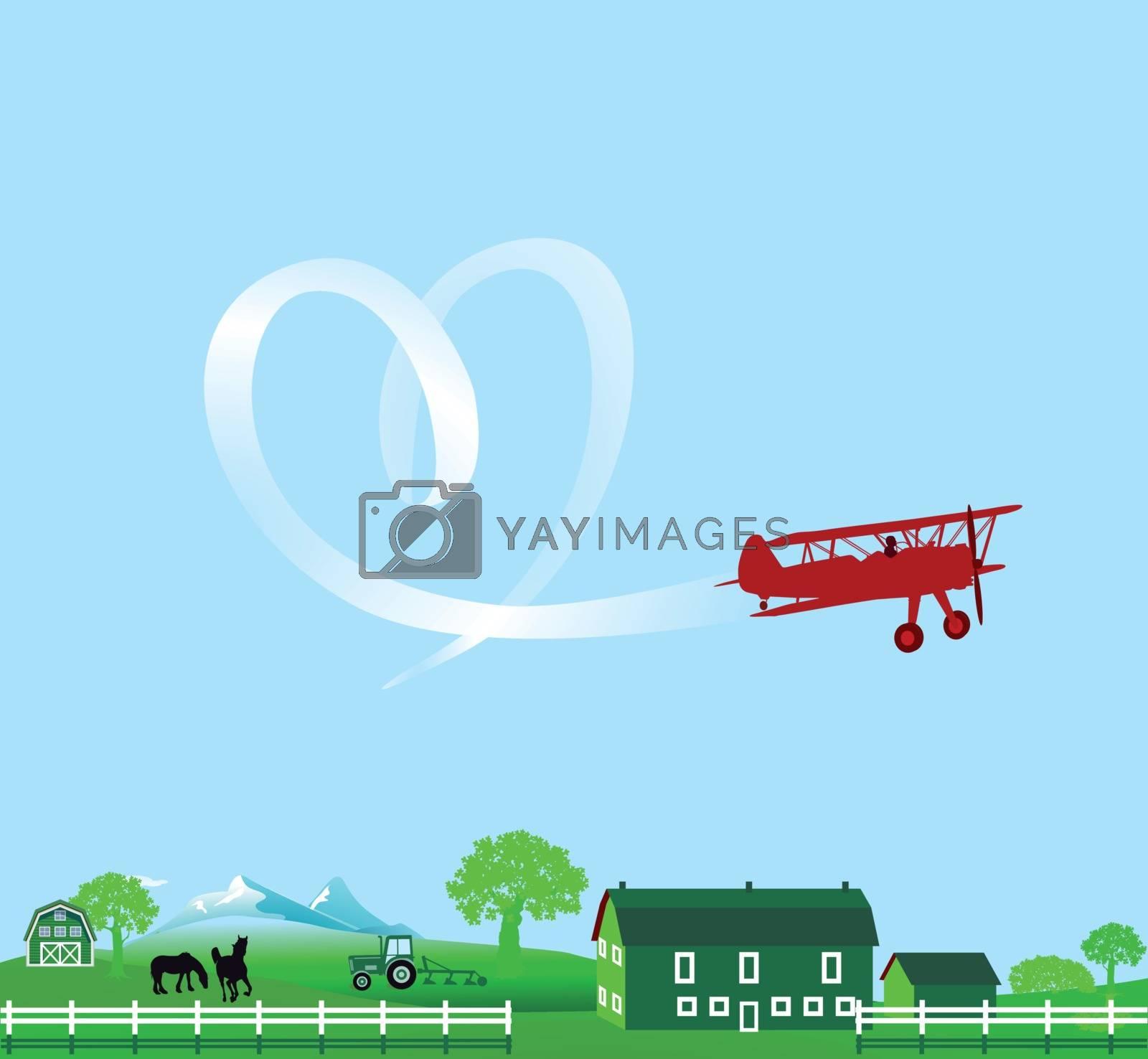 sky writer notice illustration