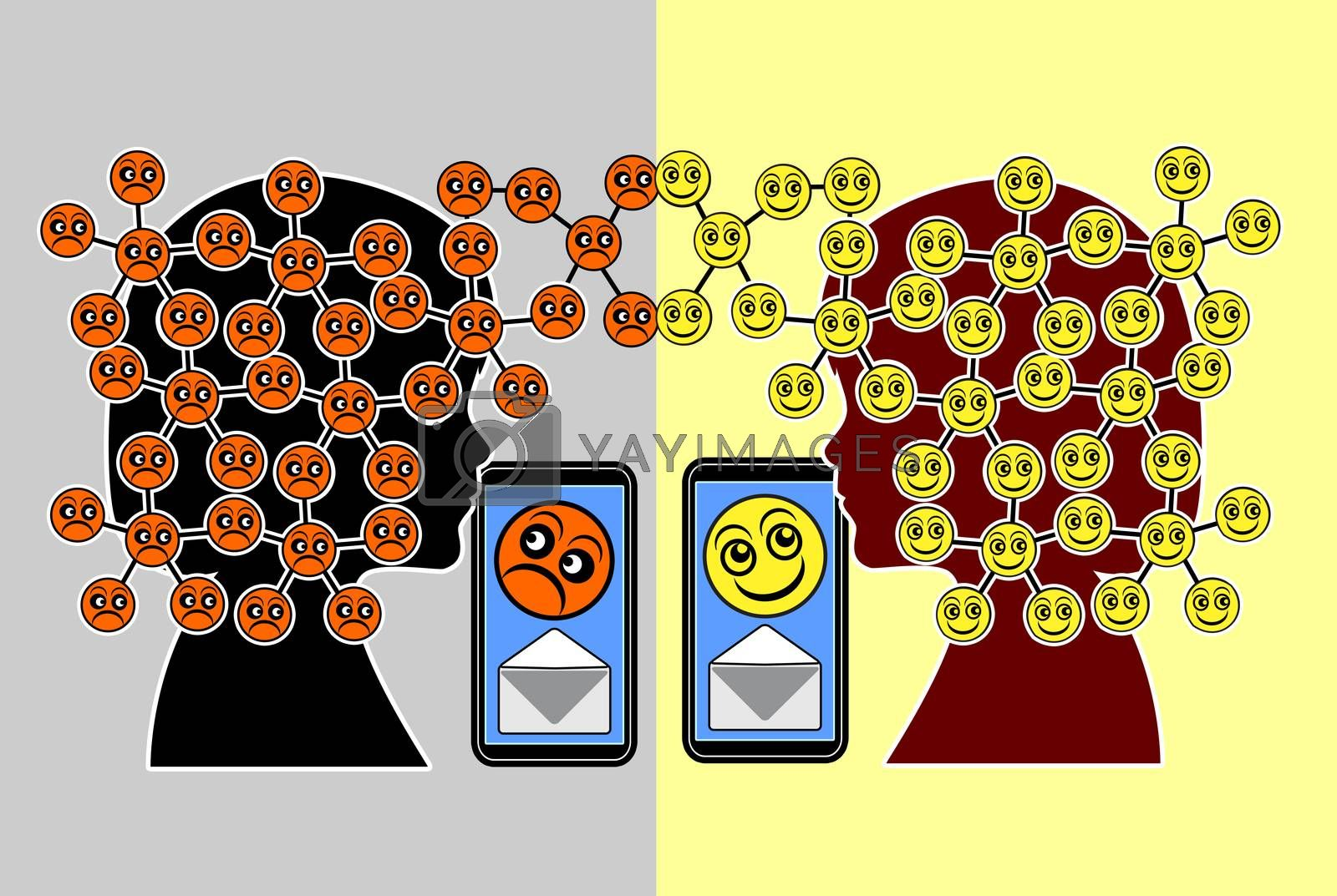 Messages may cause either pleasant feelings or depressions in children