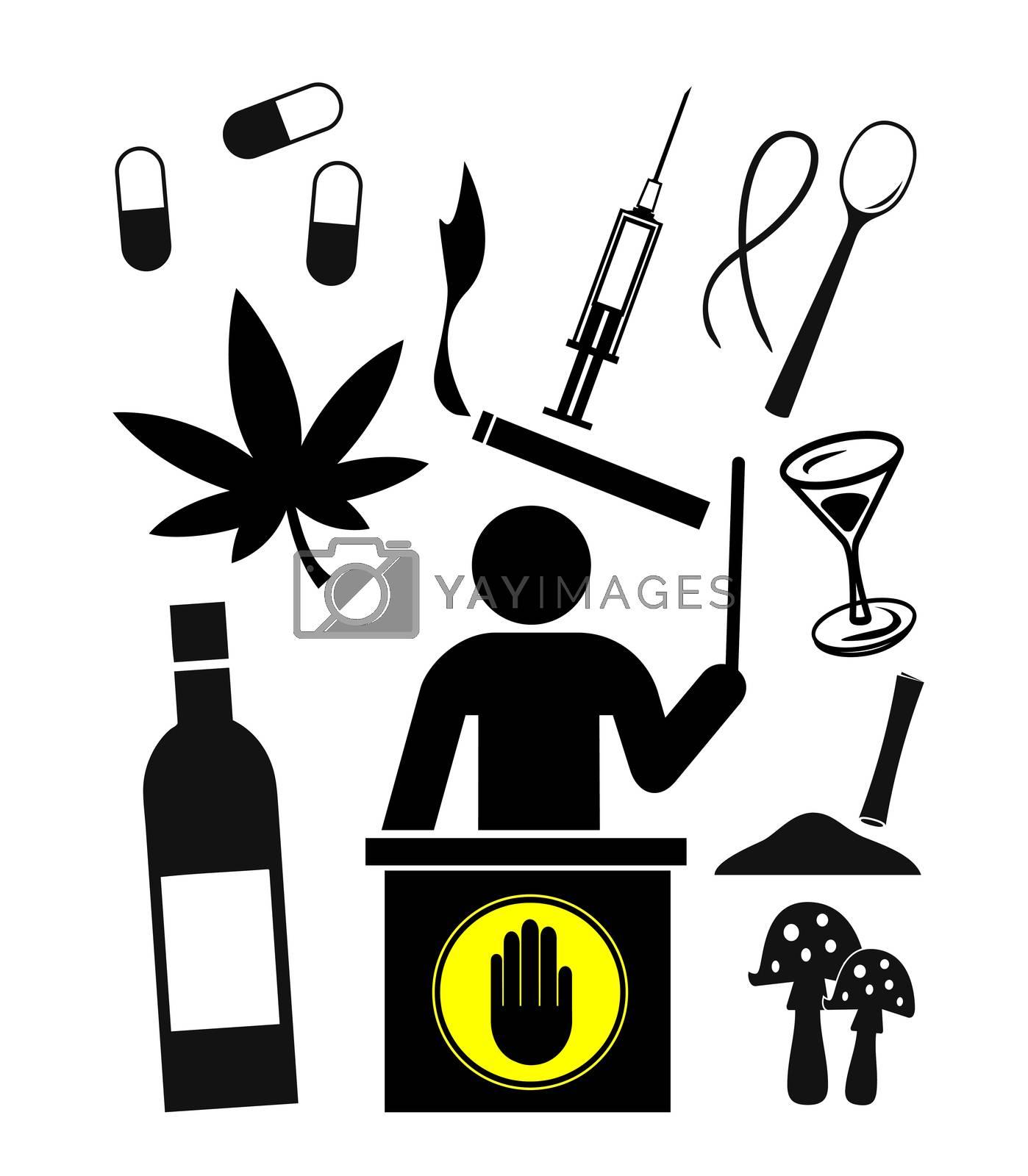 Concept sign for drug prevention programs