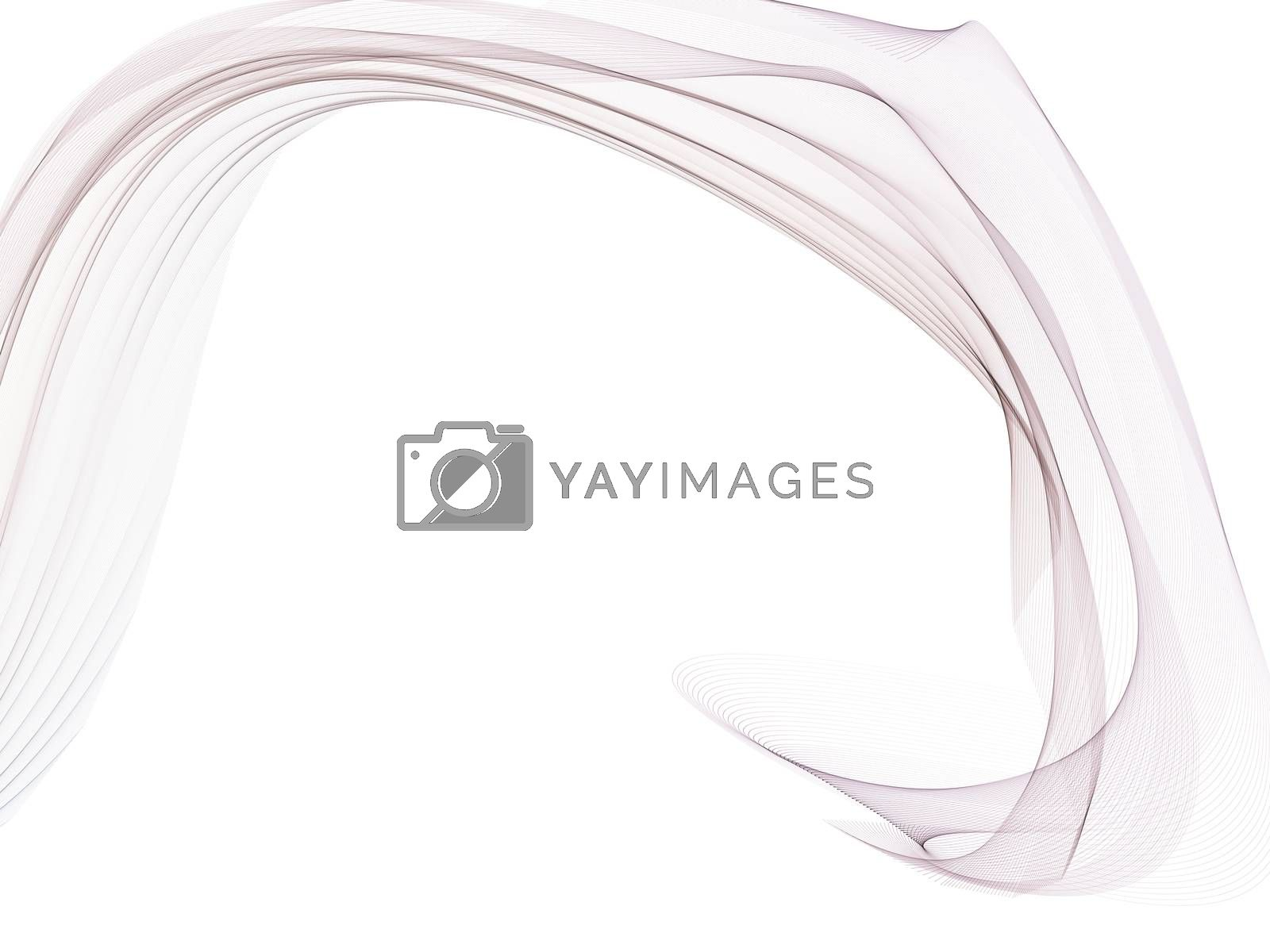 white abstract background with a glowing abstract waves by Teerawit Tj-rabbit