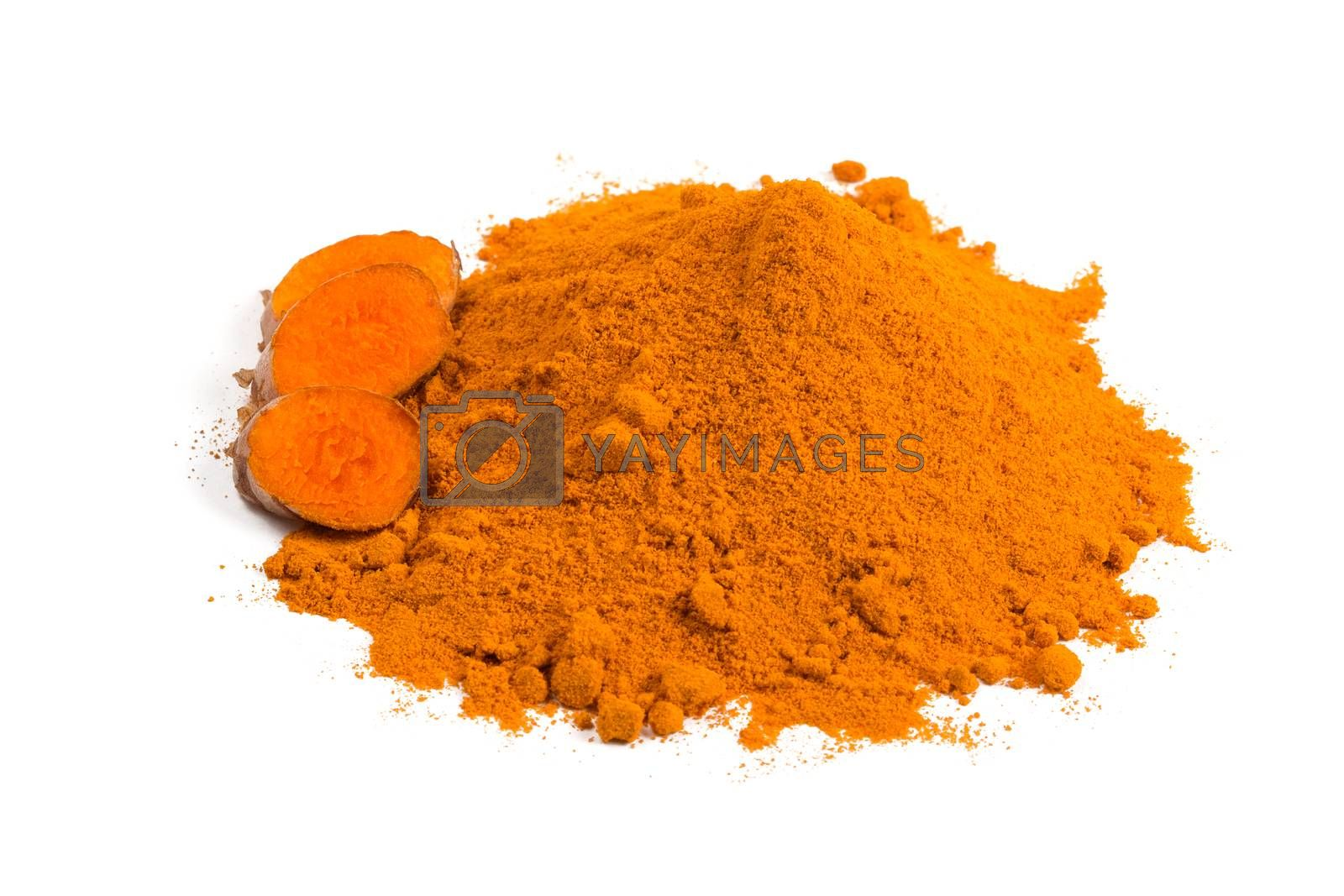 Turmeric rhizome and powder by ivo_13