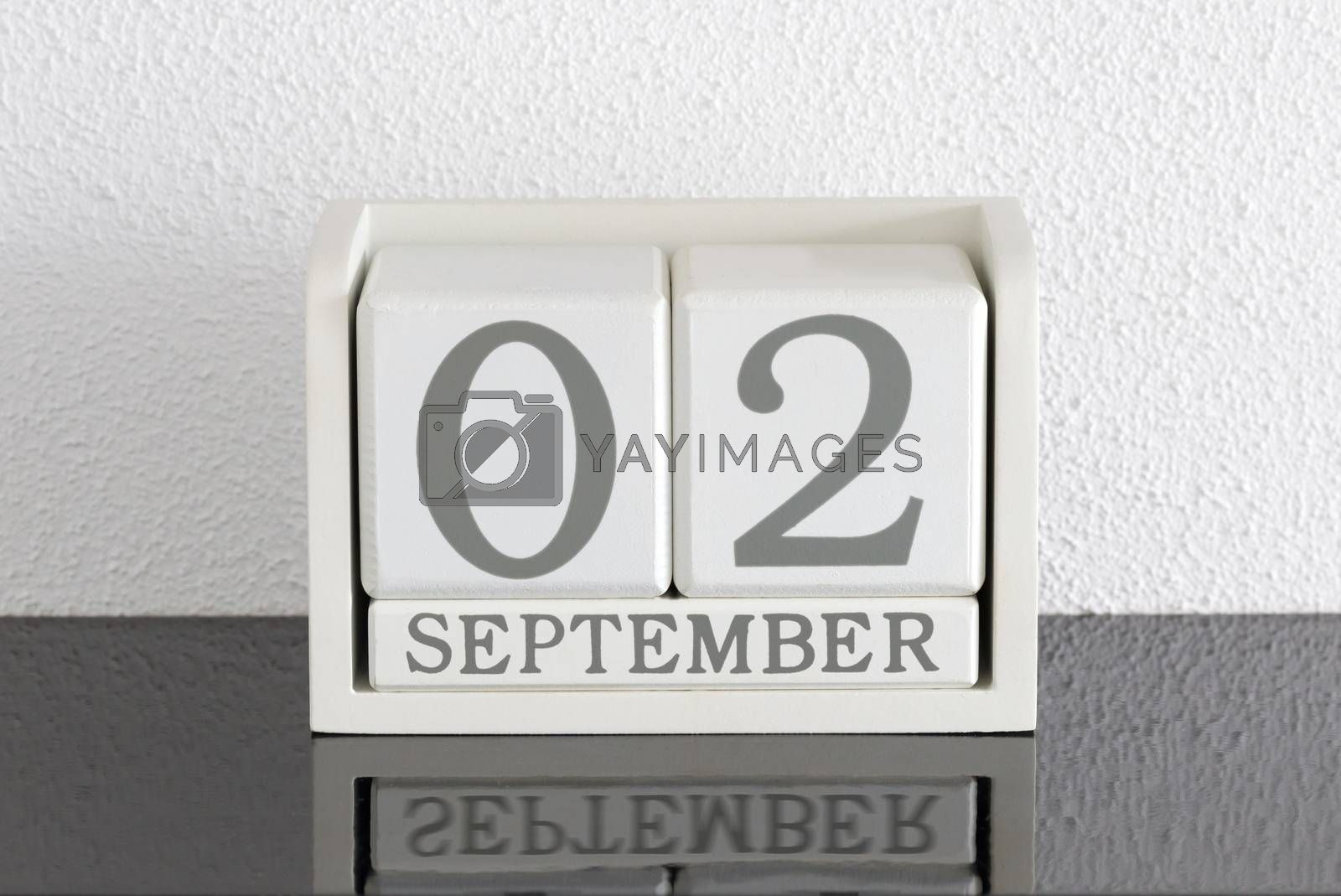 White block calendar present date 3 and month September by michaklootwijk