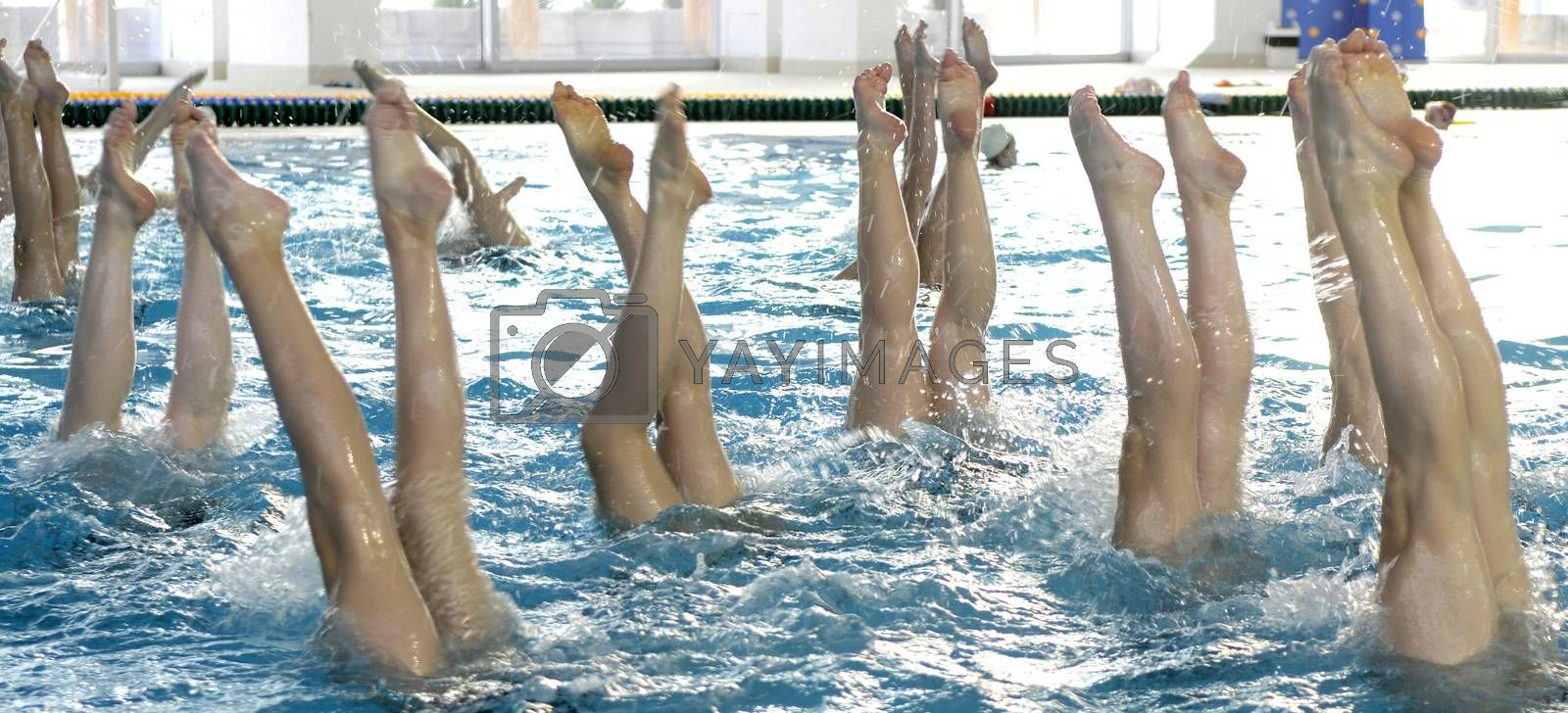 Synchronized swimming detail by Peric