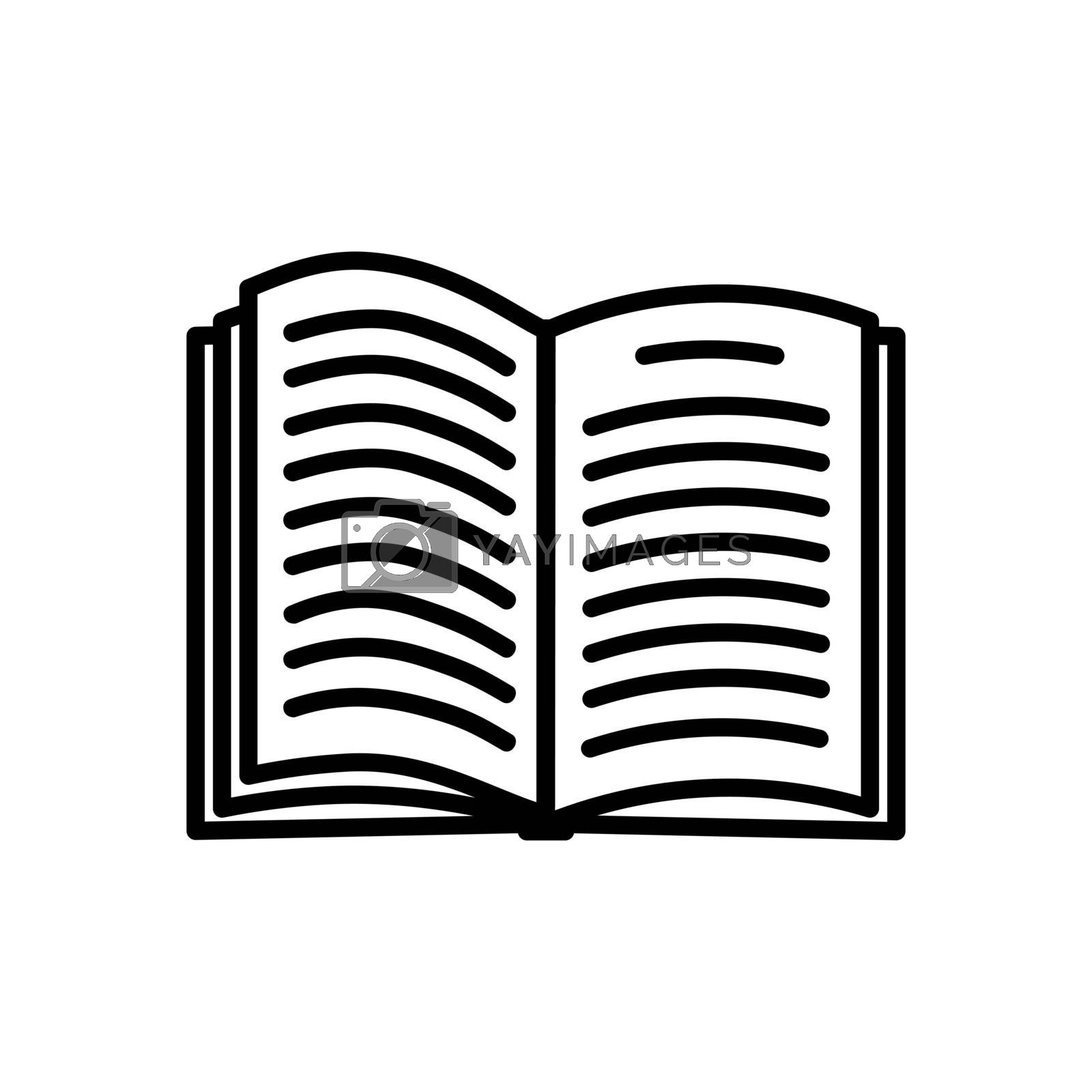 Book icon isolated on white background by veronawinner