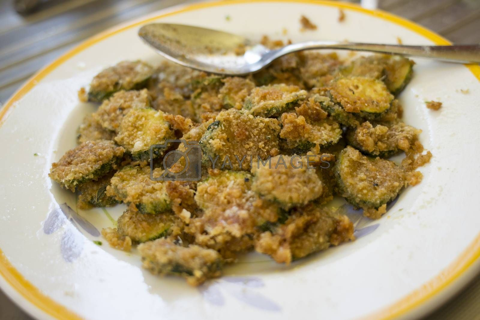 breaded and gratineed zucchini by salmas