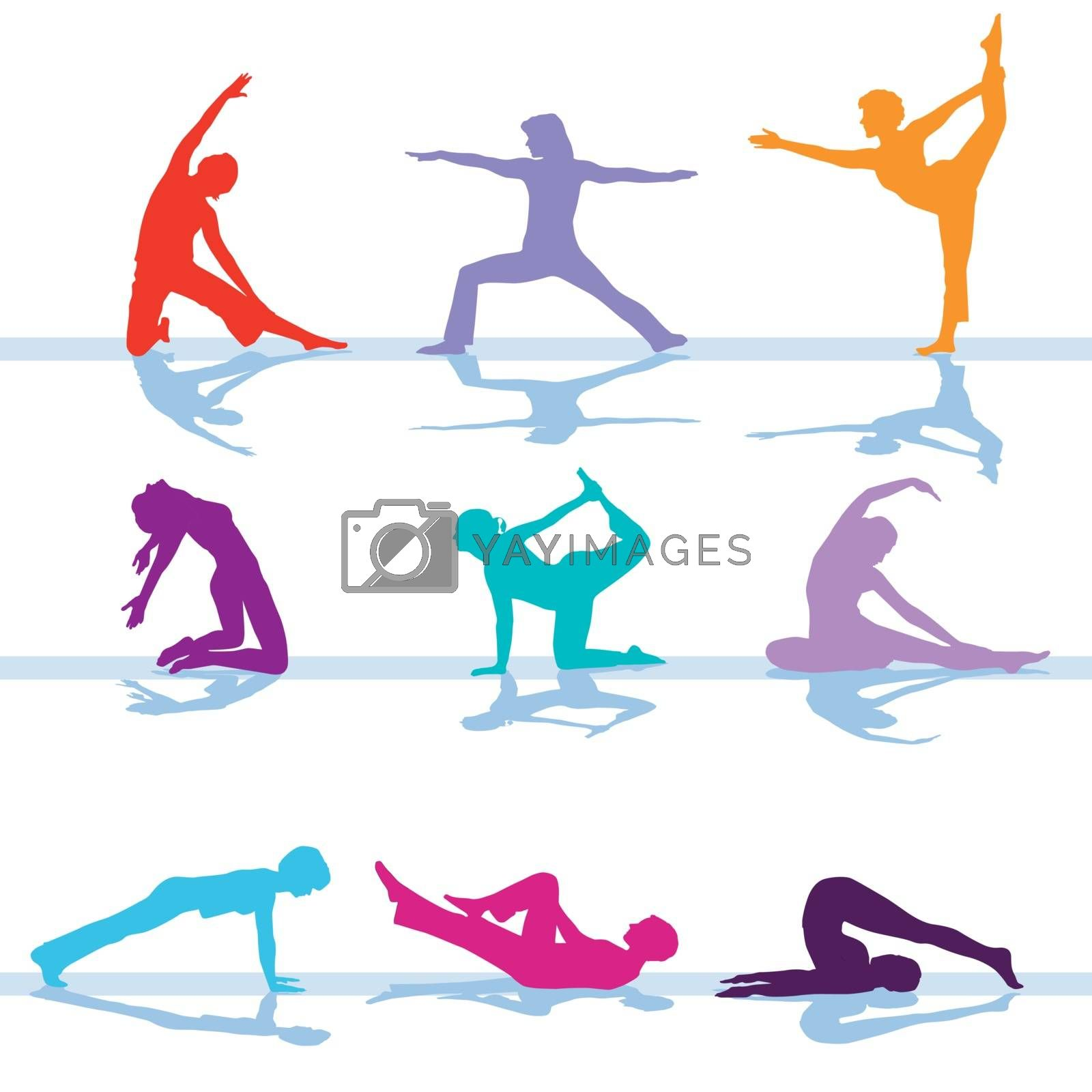 Gym fitness workout illustration