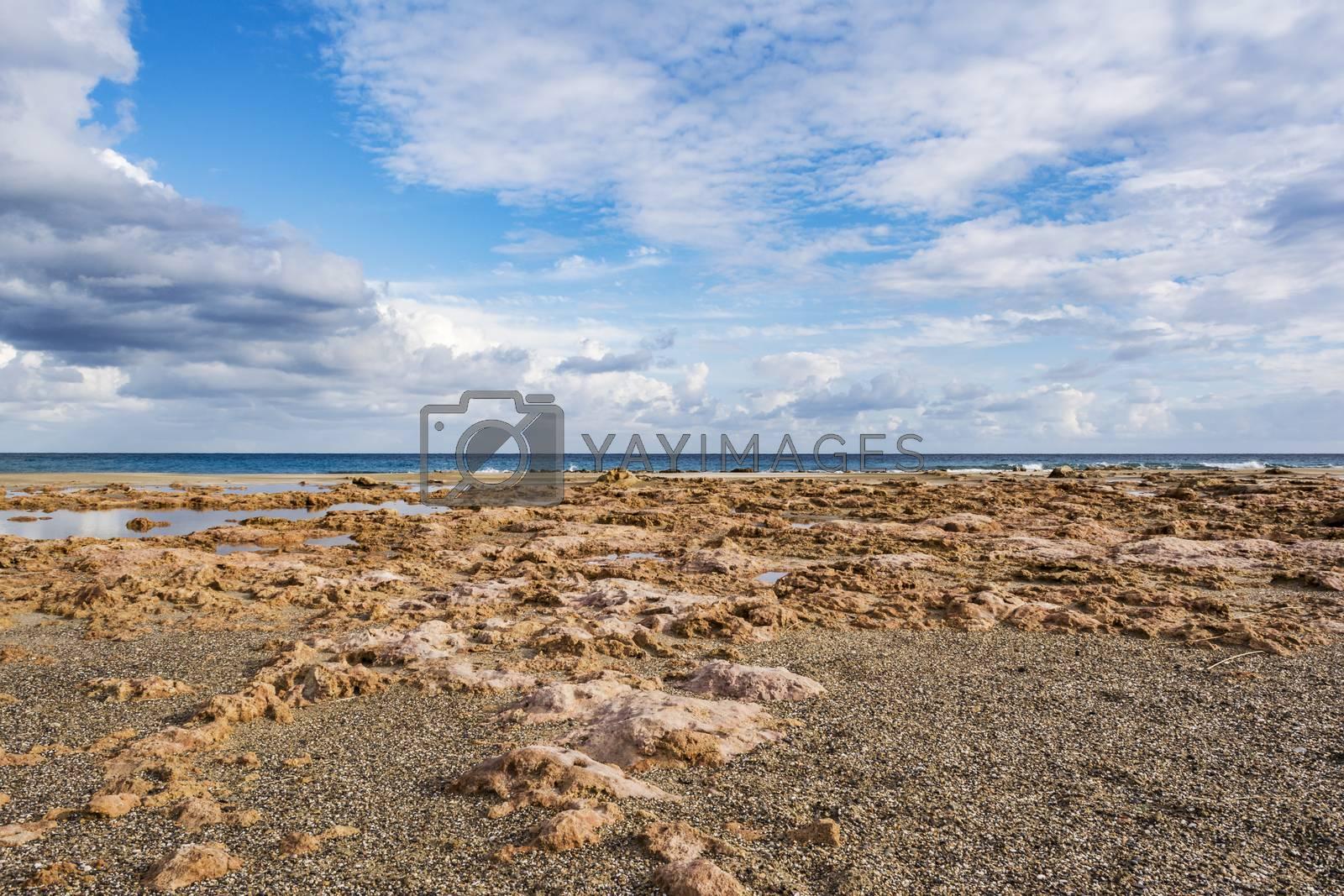 Beautiful greek seascape. East Crete. Xerokampos beach. by ankar