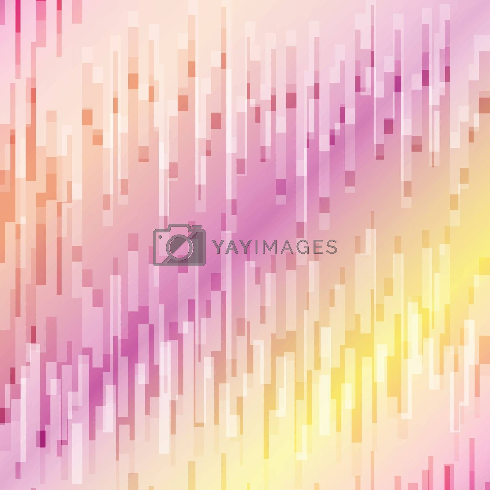 Abstract geometric vertical lines overlay on colorful background by phochi