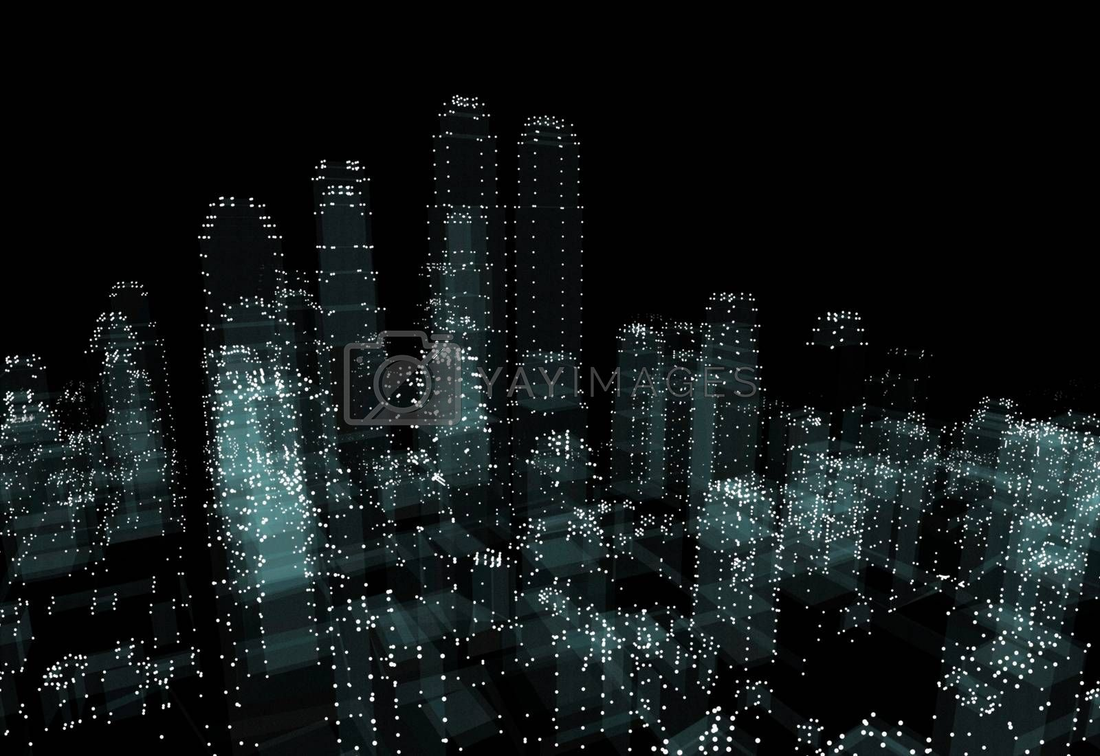 Abstract 3d city rendering by cherezoff
