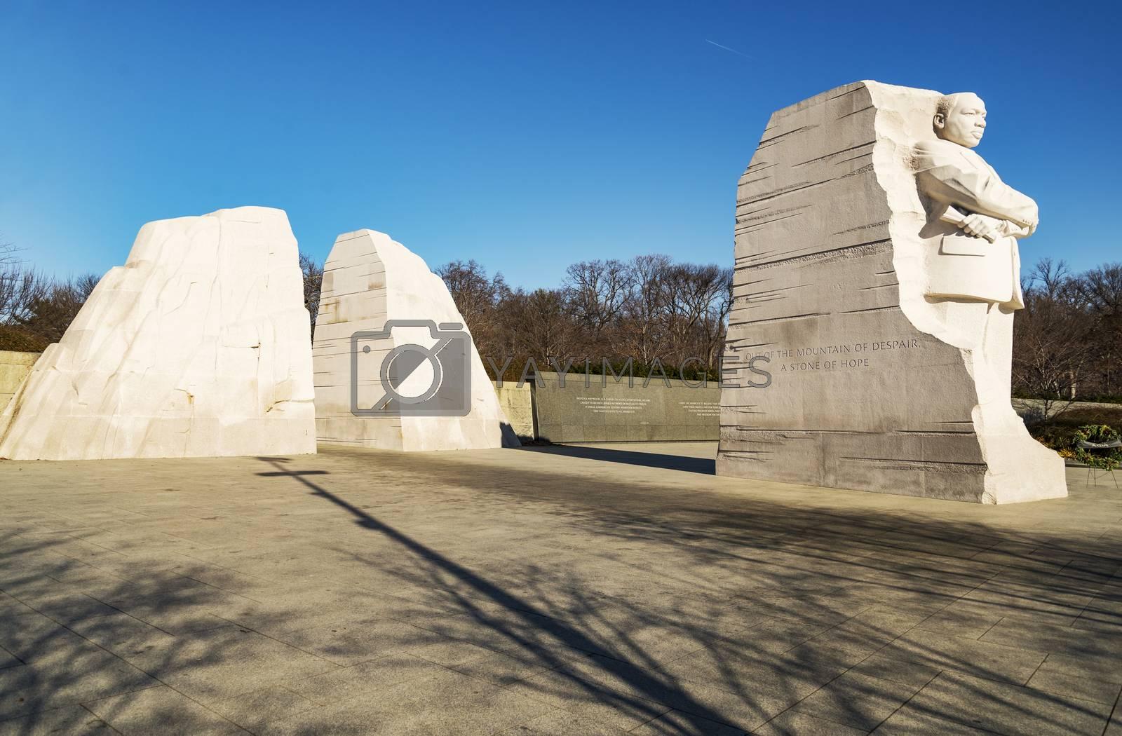 Martin Luther King Junior Memorial in Washington DC, USA