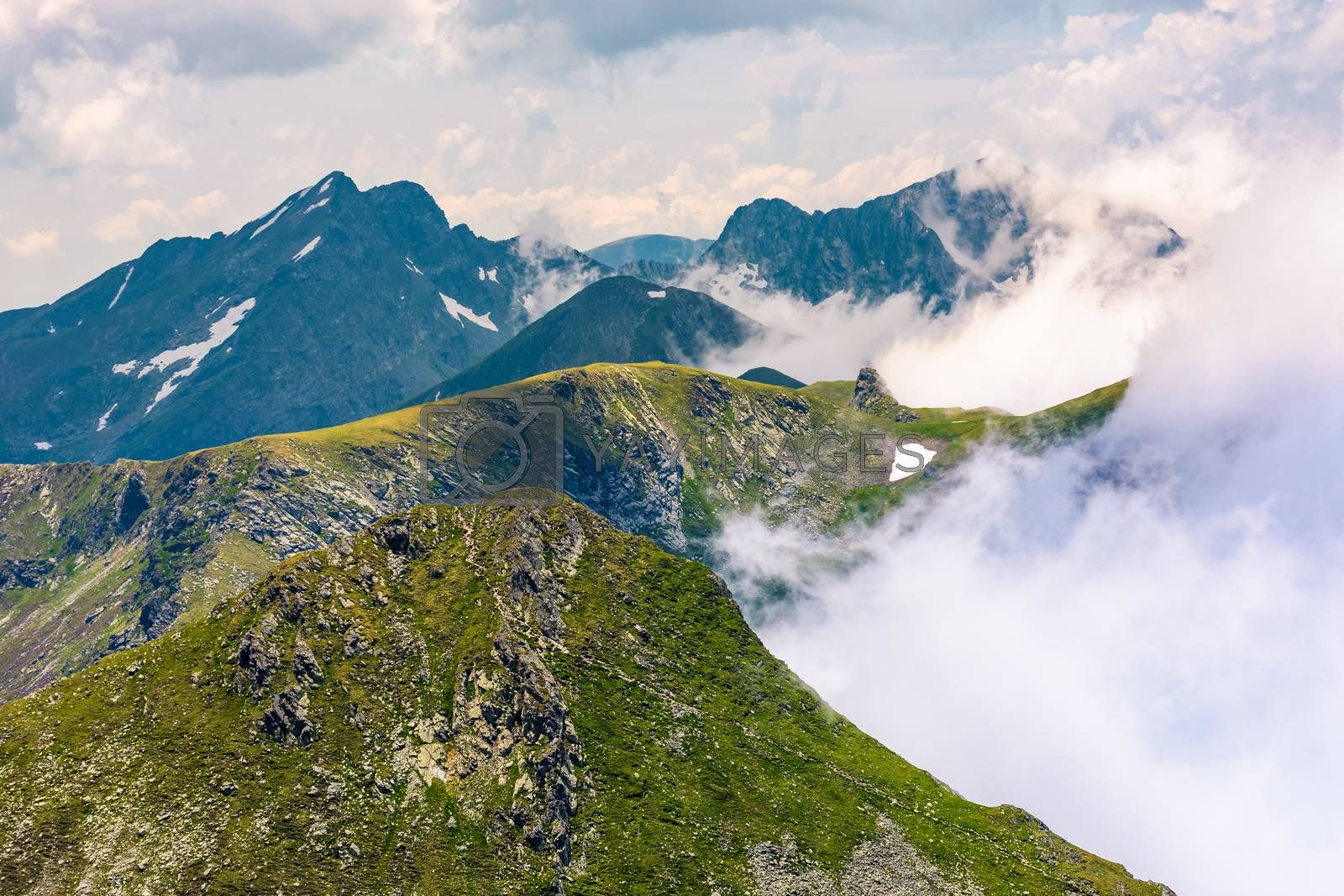 rising clouds over the Fagaras mountains by Pellinni