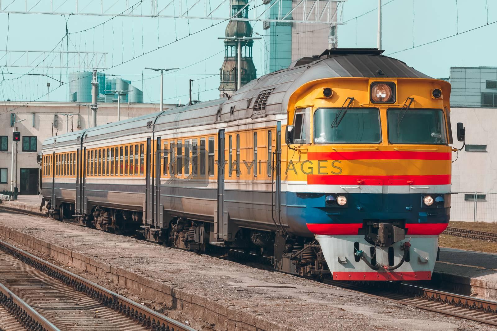Yellow diesel train by sengnsp