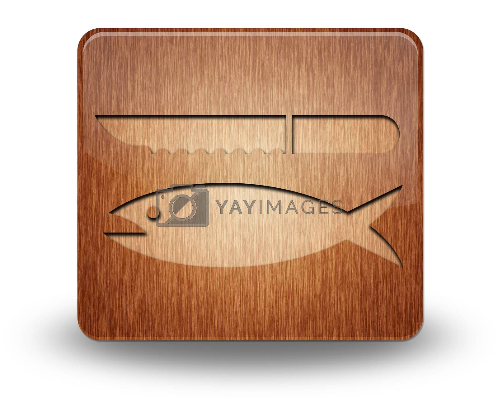 Icon, Button, Pictogram Fish Cleaning by mindscanner