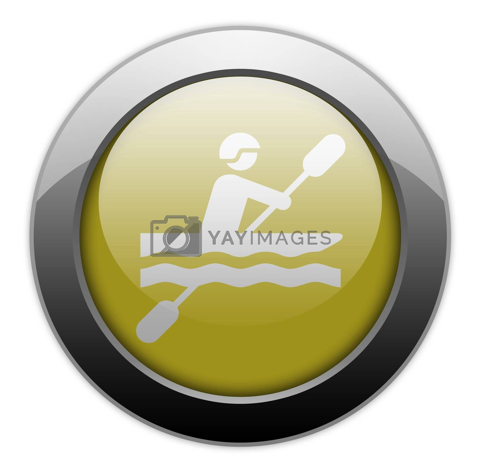 Icon, Button, Pictogram Kayaking by mindscanner