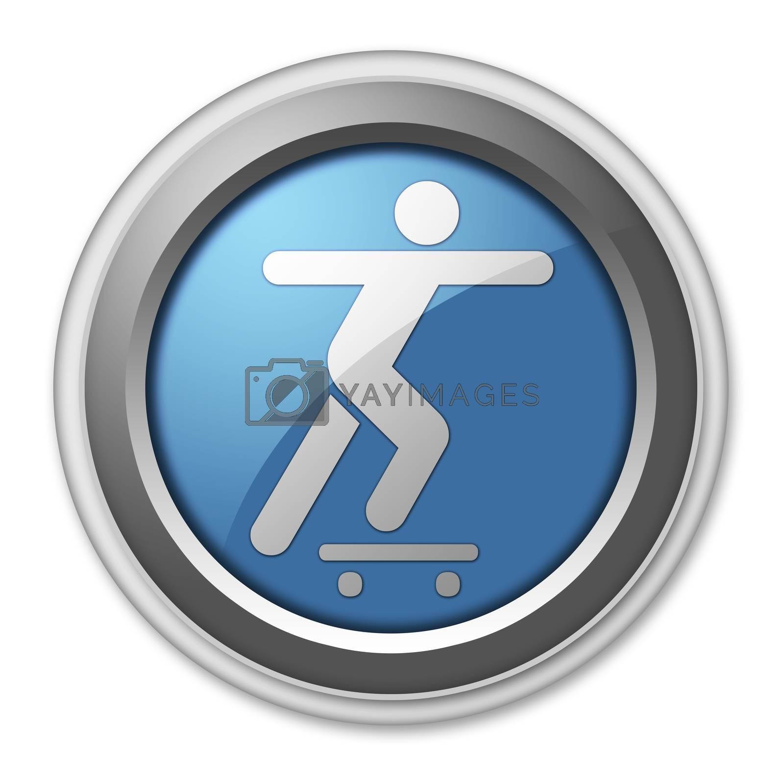 Icon, Button, Pictogram Skateboarding by mindscanner