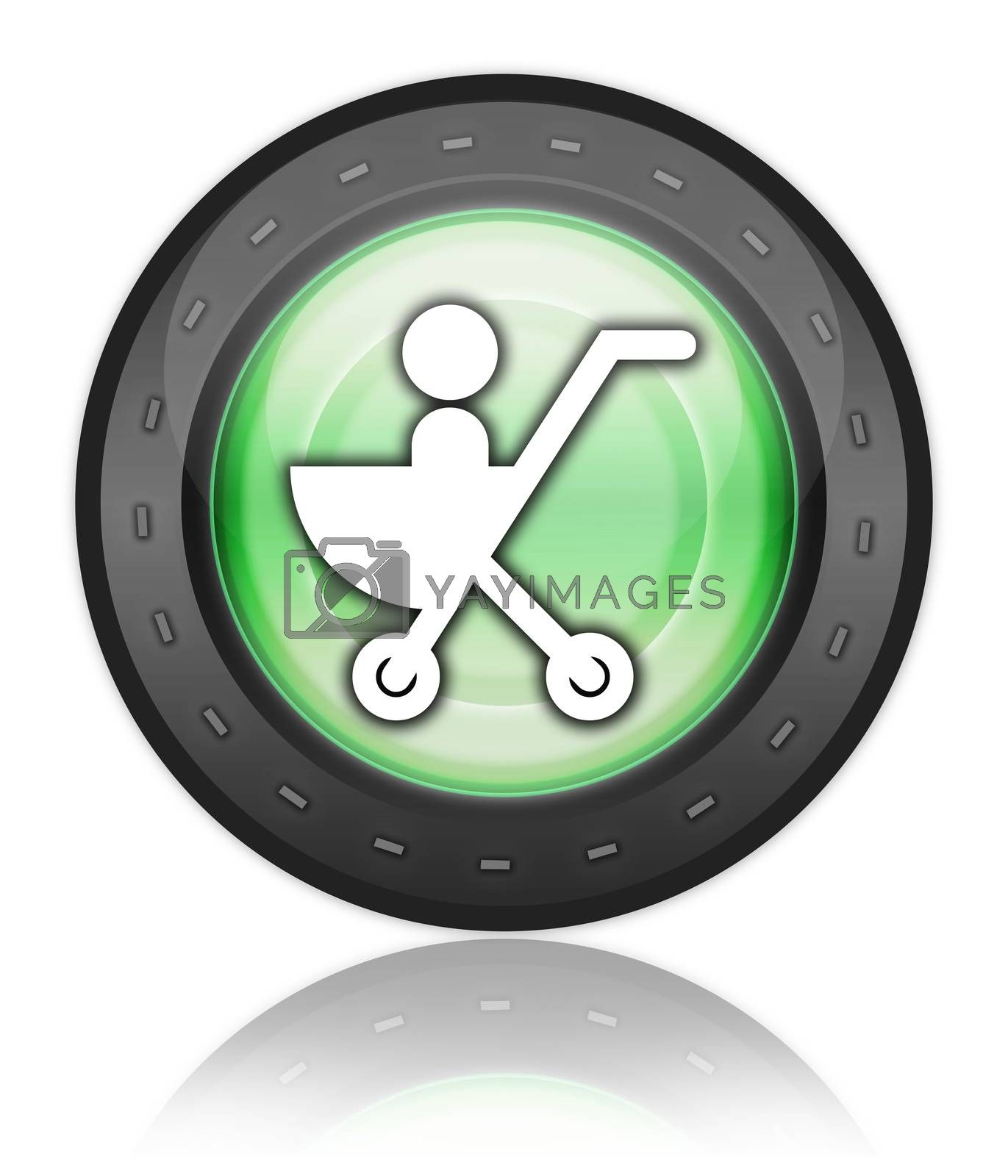 Icon, Button, Pictogram Stroller by mindscanner