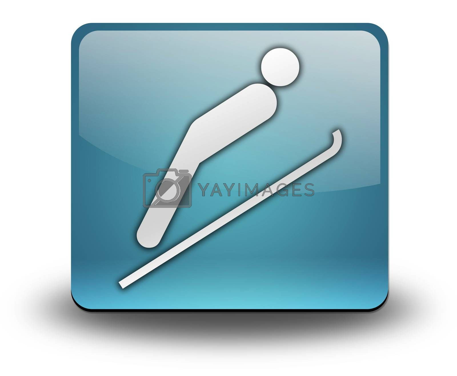 Icon, Button, Pictogram Ski Jumping by mindscanner
