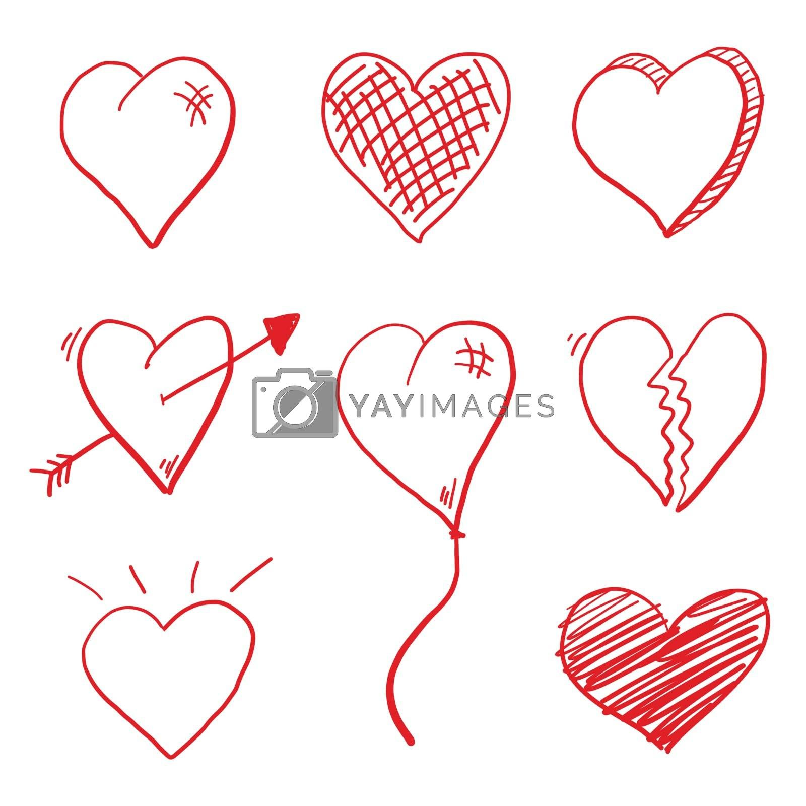 Royalty free image of Love Heart Doodle by keeweeboy