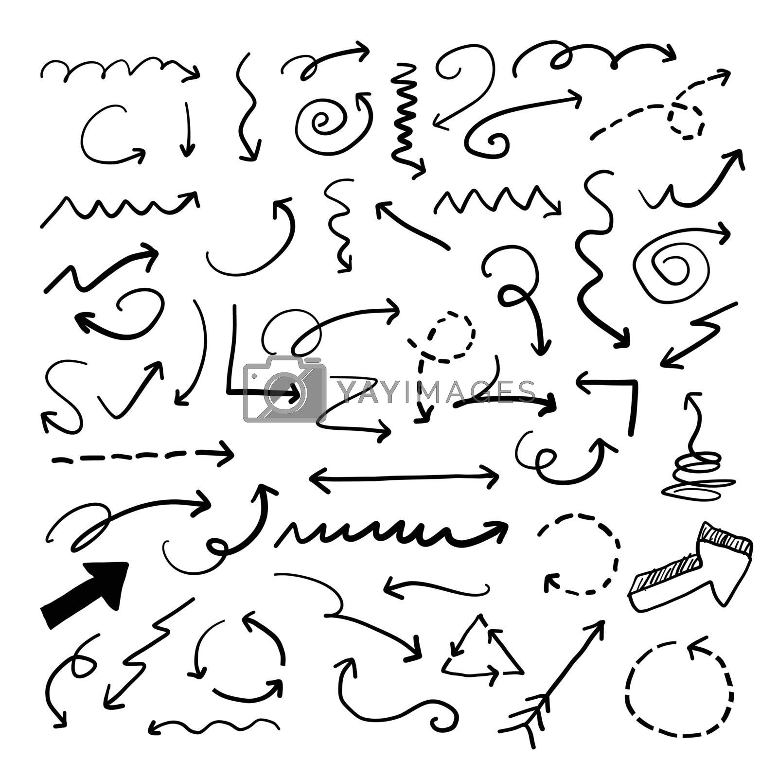 Royalty free image of Vector Arrow Doodle Collection by keeweeboy
