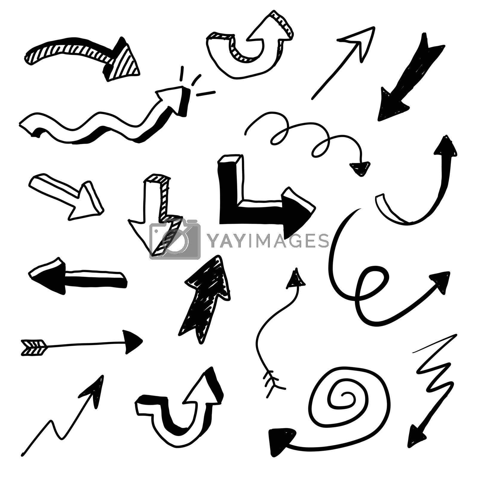 Royalty free image of Vector Arrow Doodle Set by keeweeboy