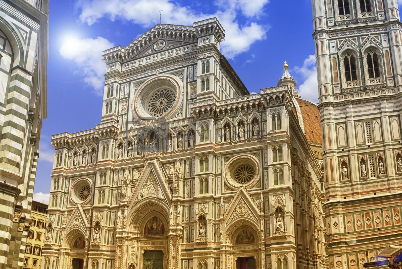 Cattedrale di Santa Maria del Fiore or Il Duomo di Firenze by day, Italia