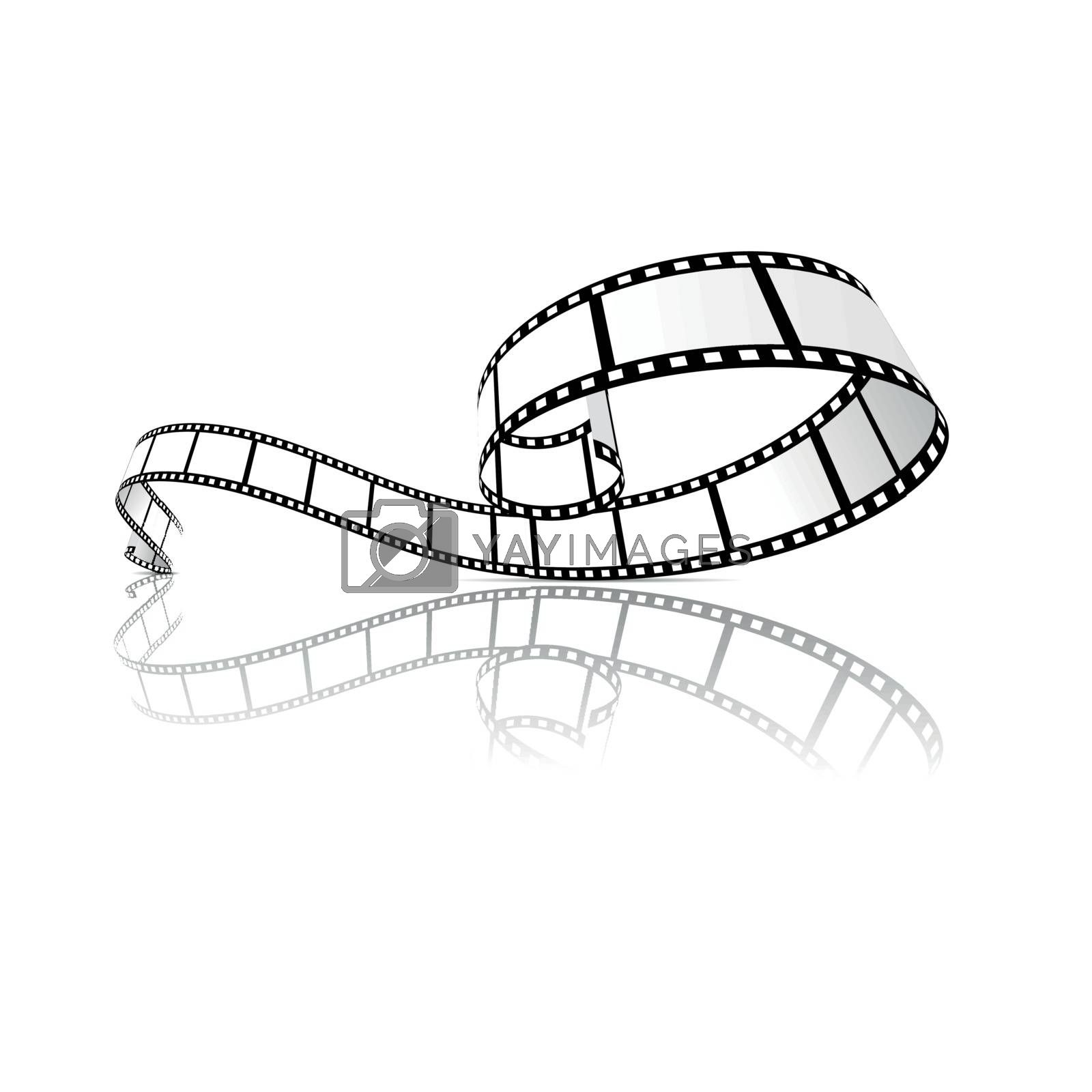 Royalty free image of Film strip vector illustration by sermax55