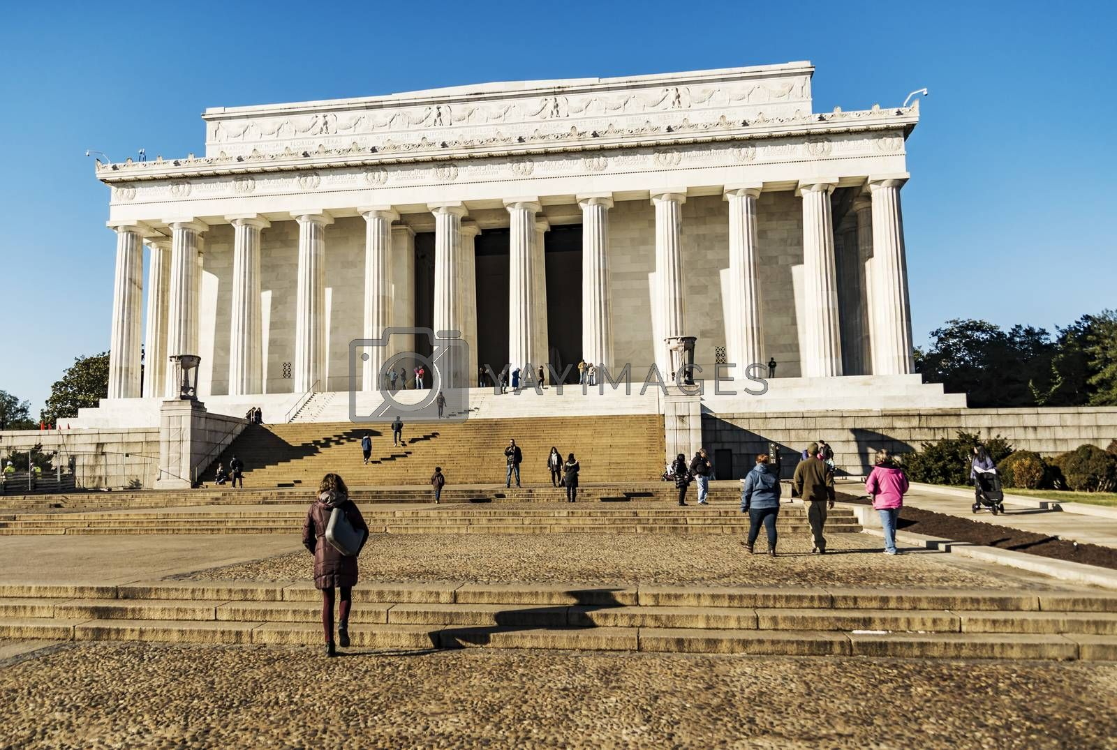 WASHINGTON DC, DECEMBER 2I: The Lincoln Memorial, located on the western end of the National Mall on December 21, 2017 in Washington DC, USA