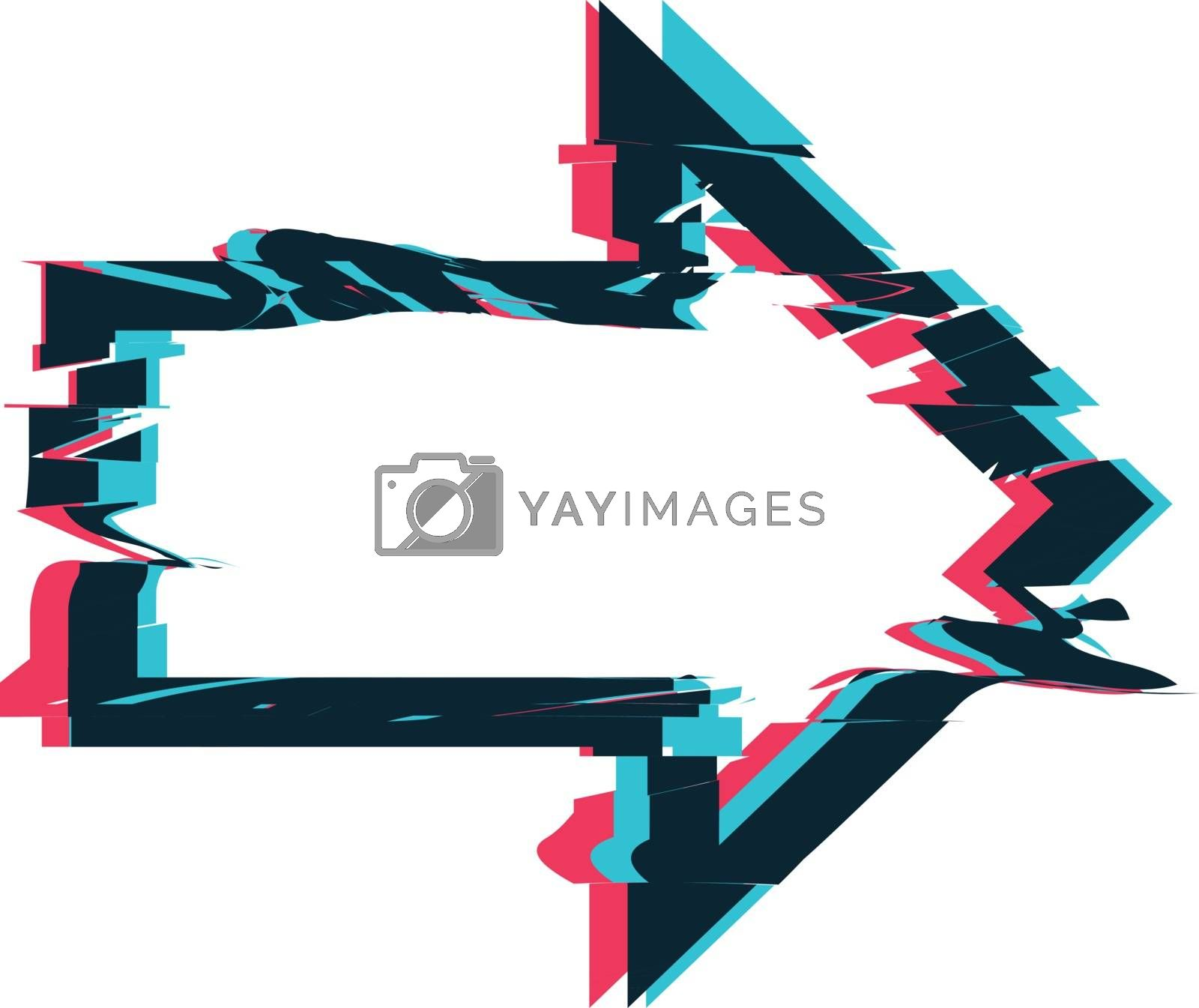 Royalty free image of Glitch distortion frame. Vector arrow illustration by sermax55