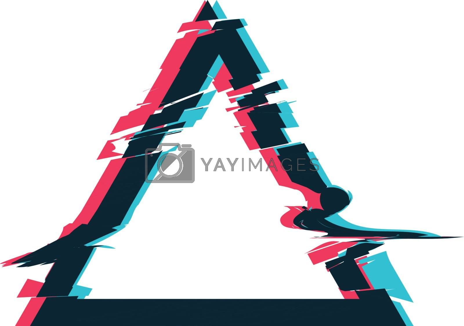 Royalty free image of Glitch distortion frame. Vector triangle illustration by sermax55