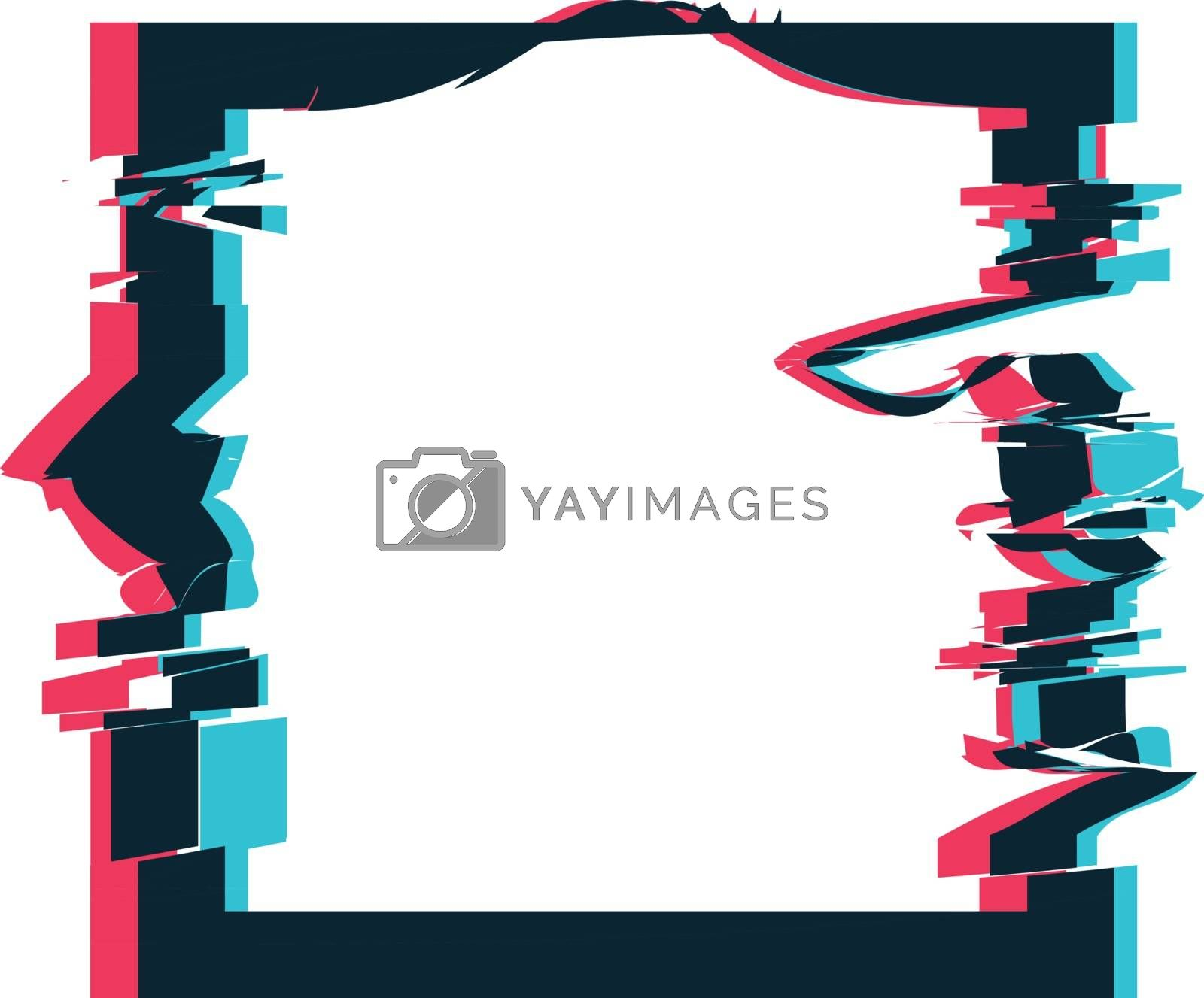 Royalty free image of Glitch distortion frame. Vector square illustration by sermax55