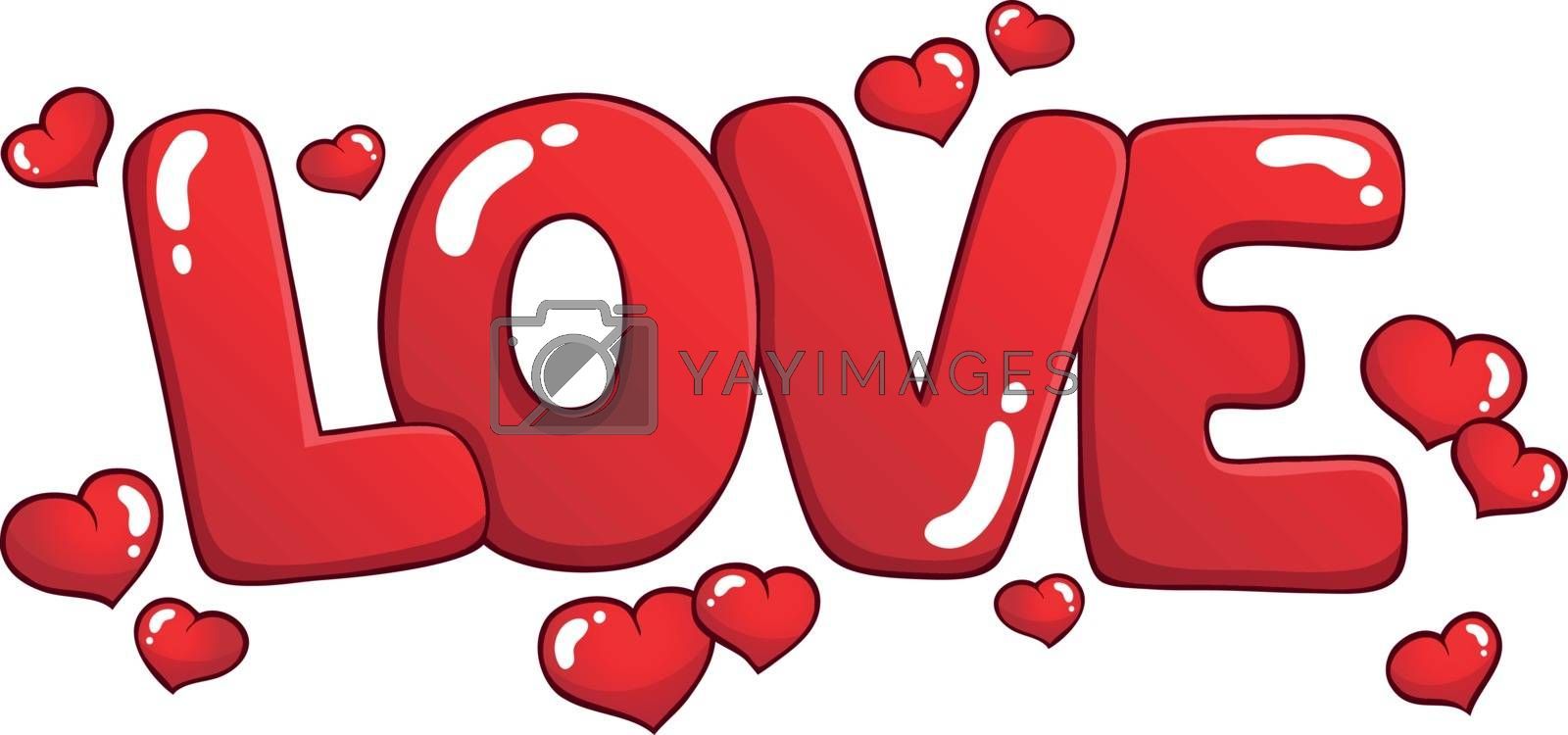 Word love theme image 1 - eps10 vector illustration.