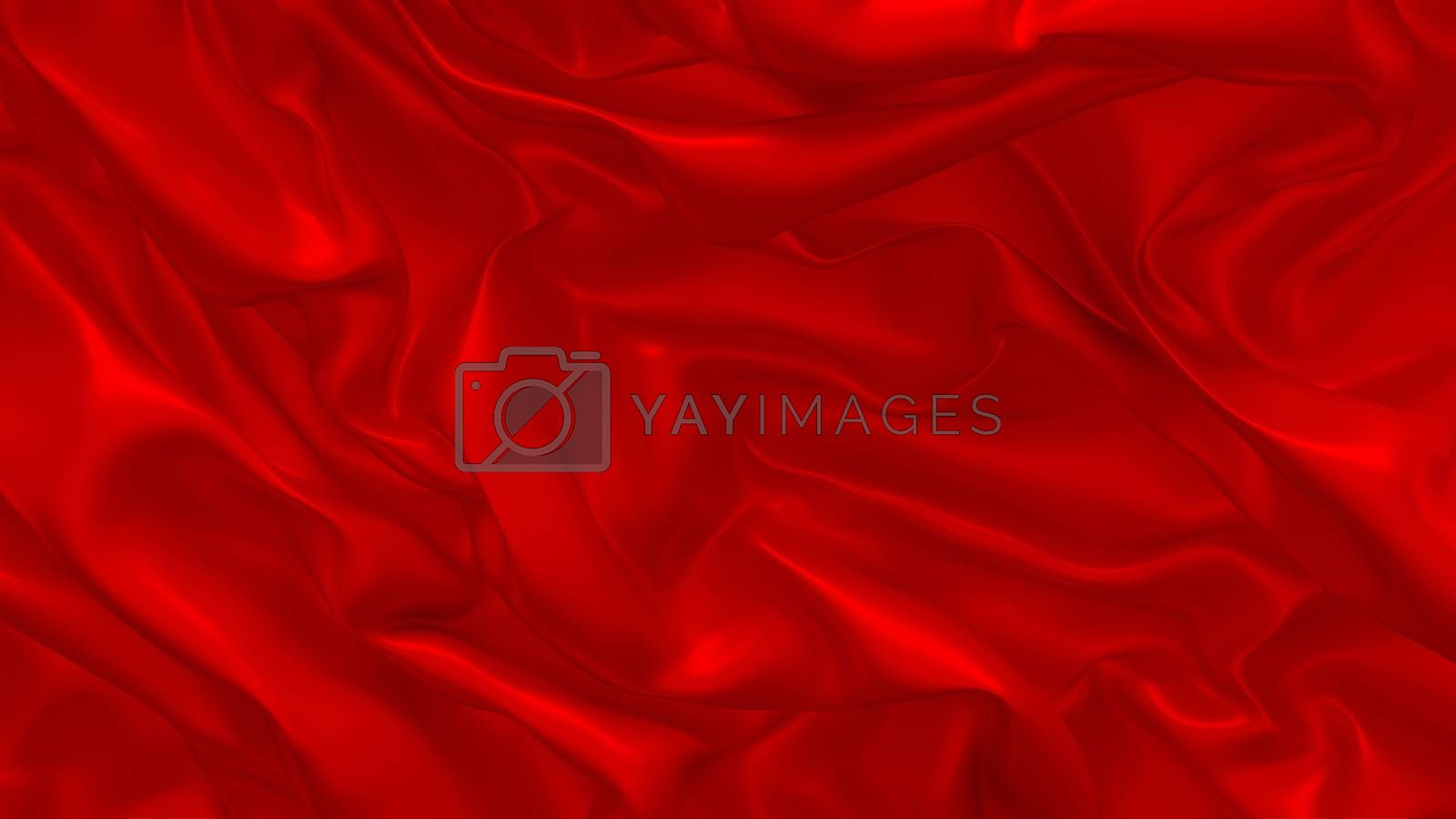3D Illustration Abstract Background with Glare and with the Red