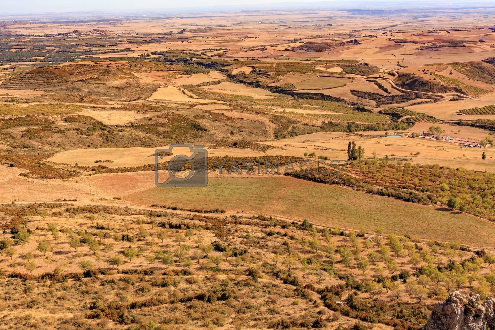 Beautiful spanish landscape, aerial view