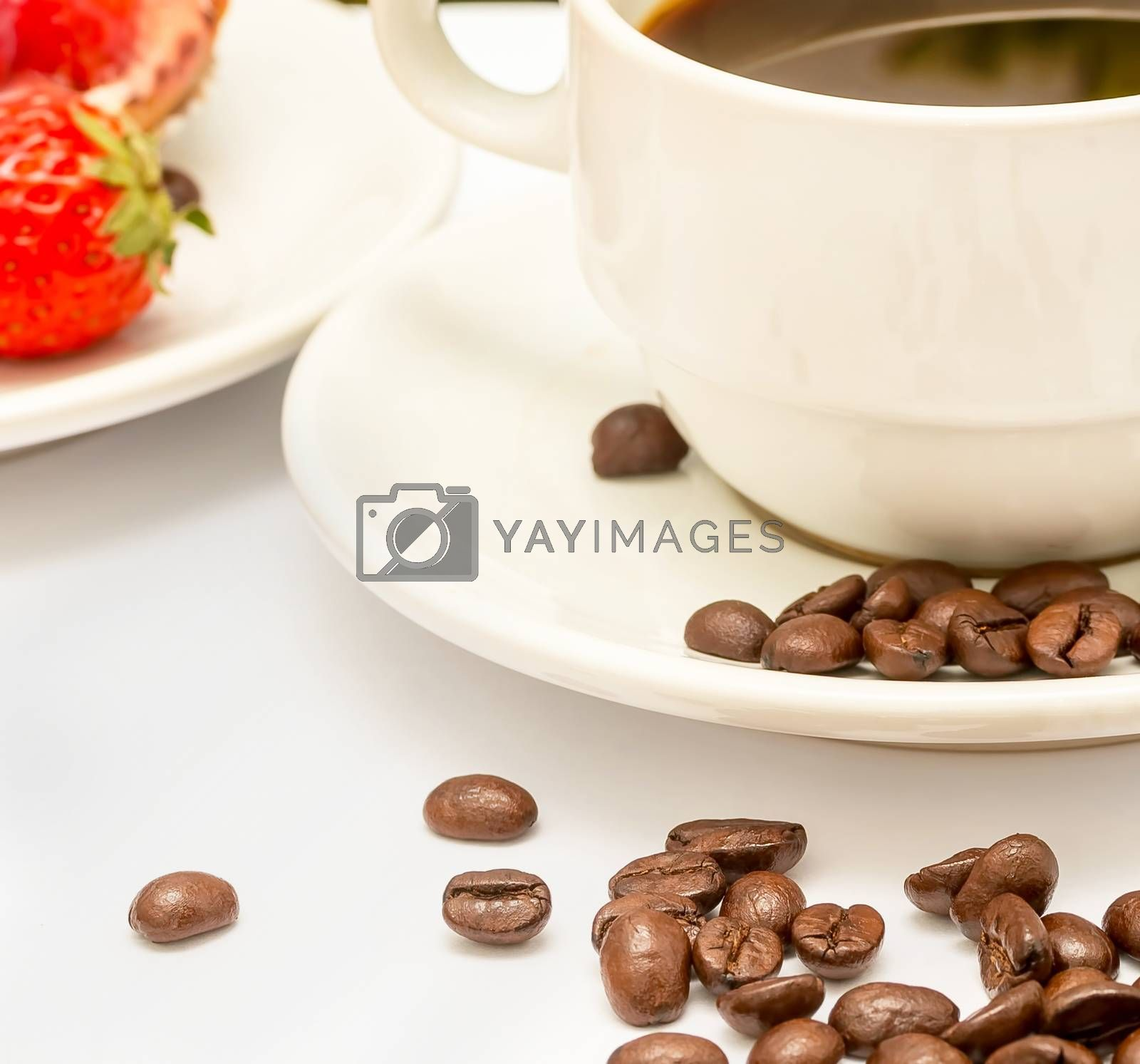 Coffee And Beans Representing Fresh Decaf And Java