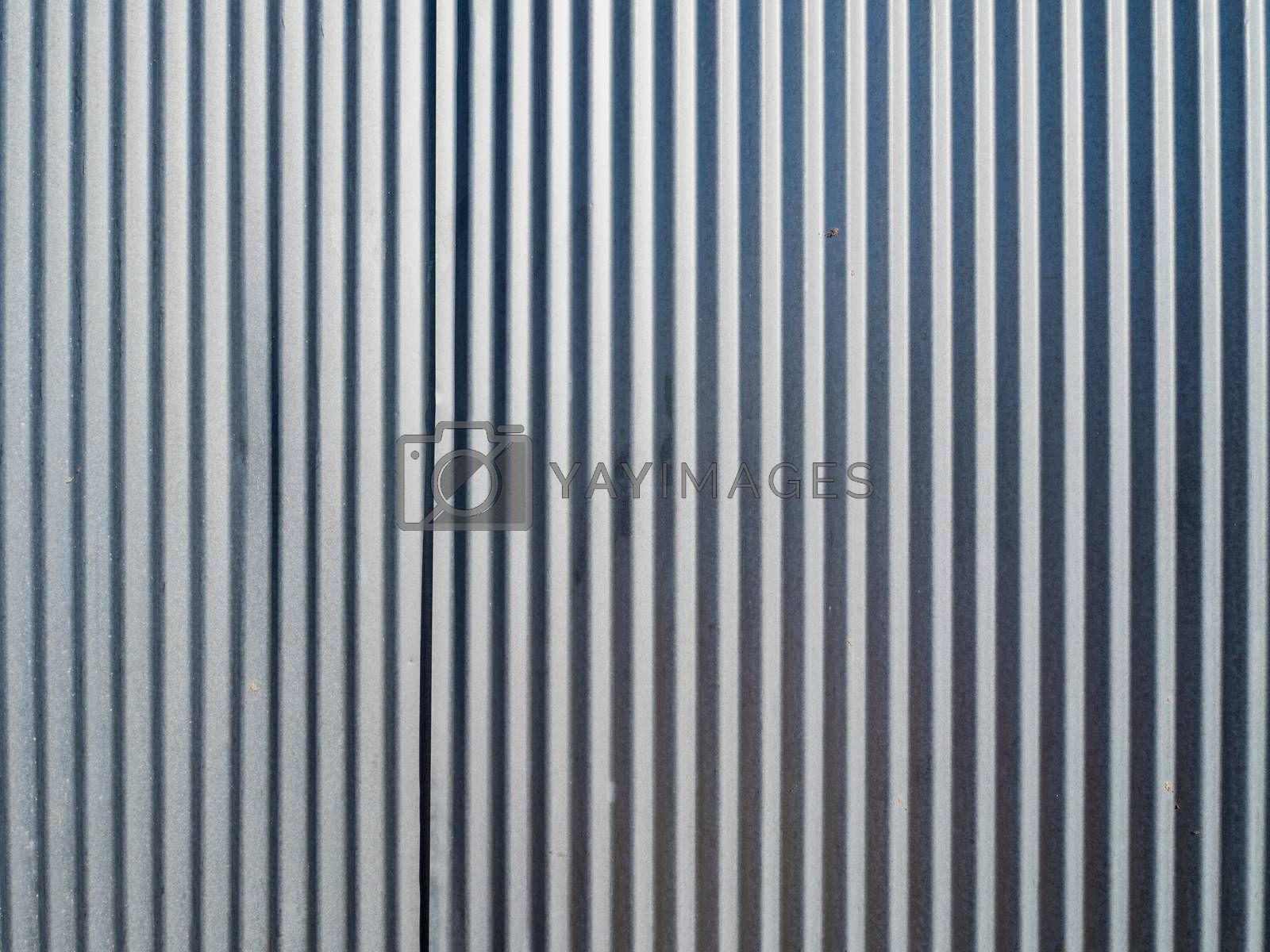 close up of corrugated sheet metal texture background