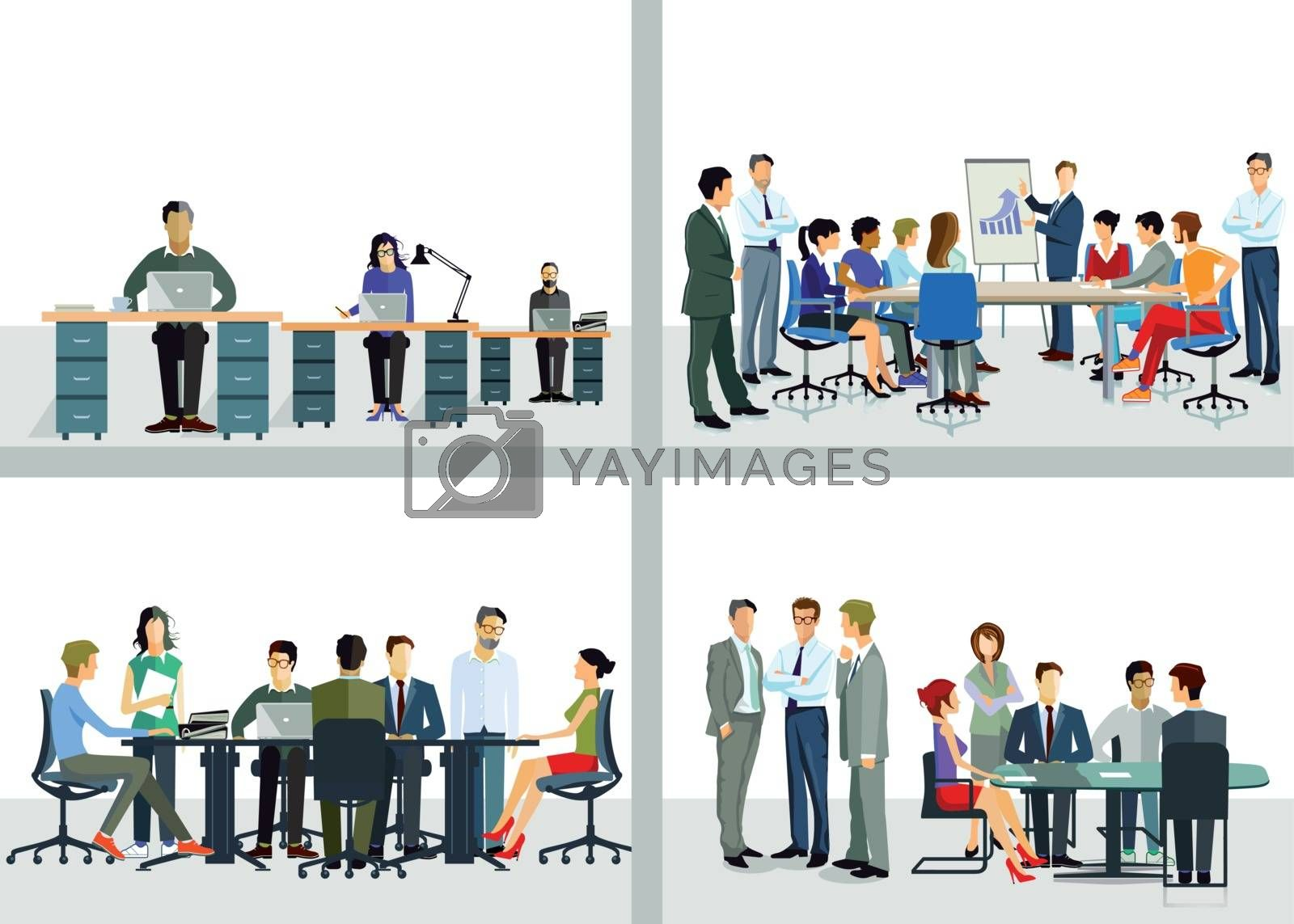 Collaboration in the company and office