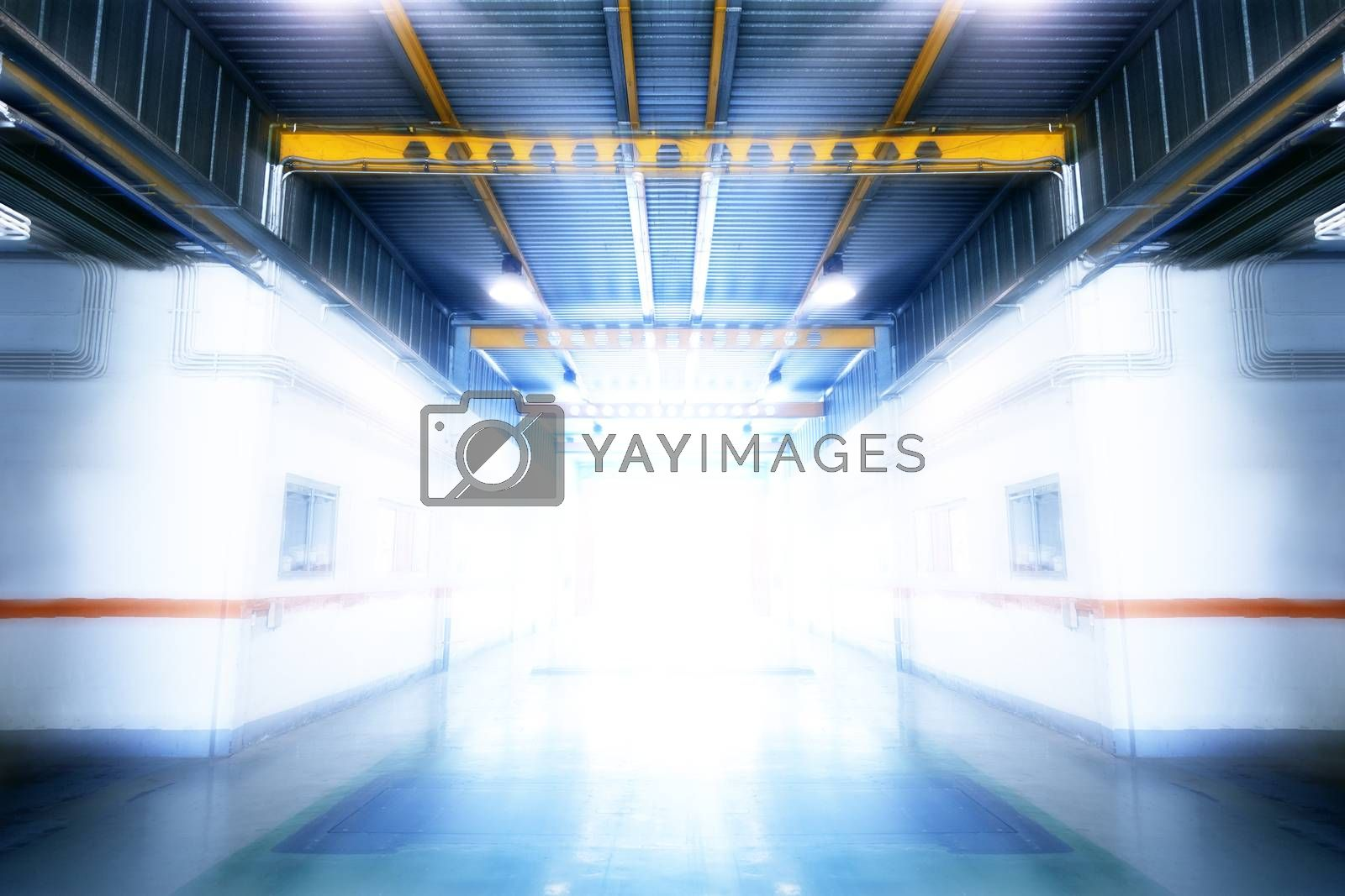 Interior industrial building.Factory and architecture engineering concept